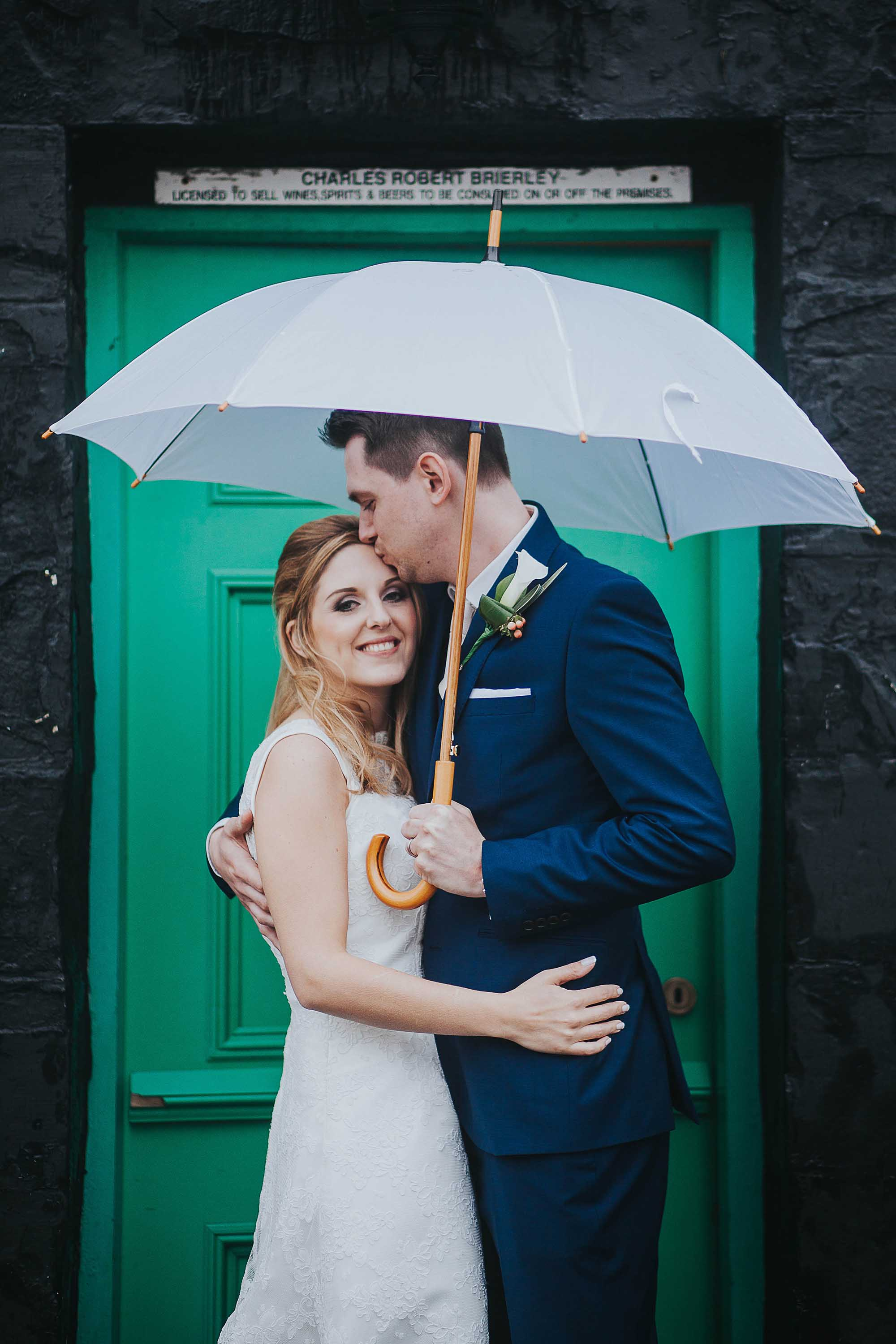 Bride and Groom portraits at The White Hart Saddleworth