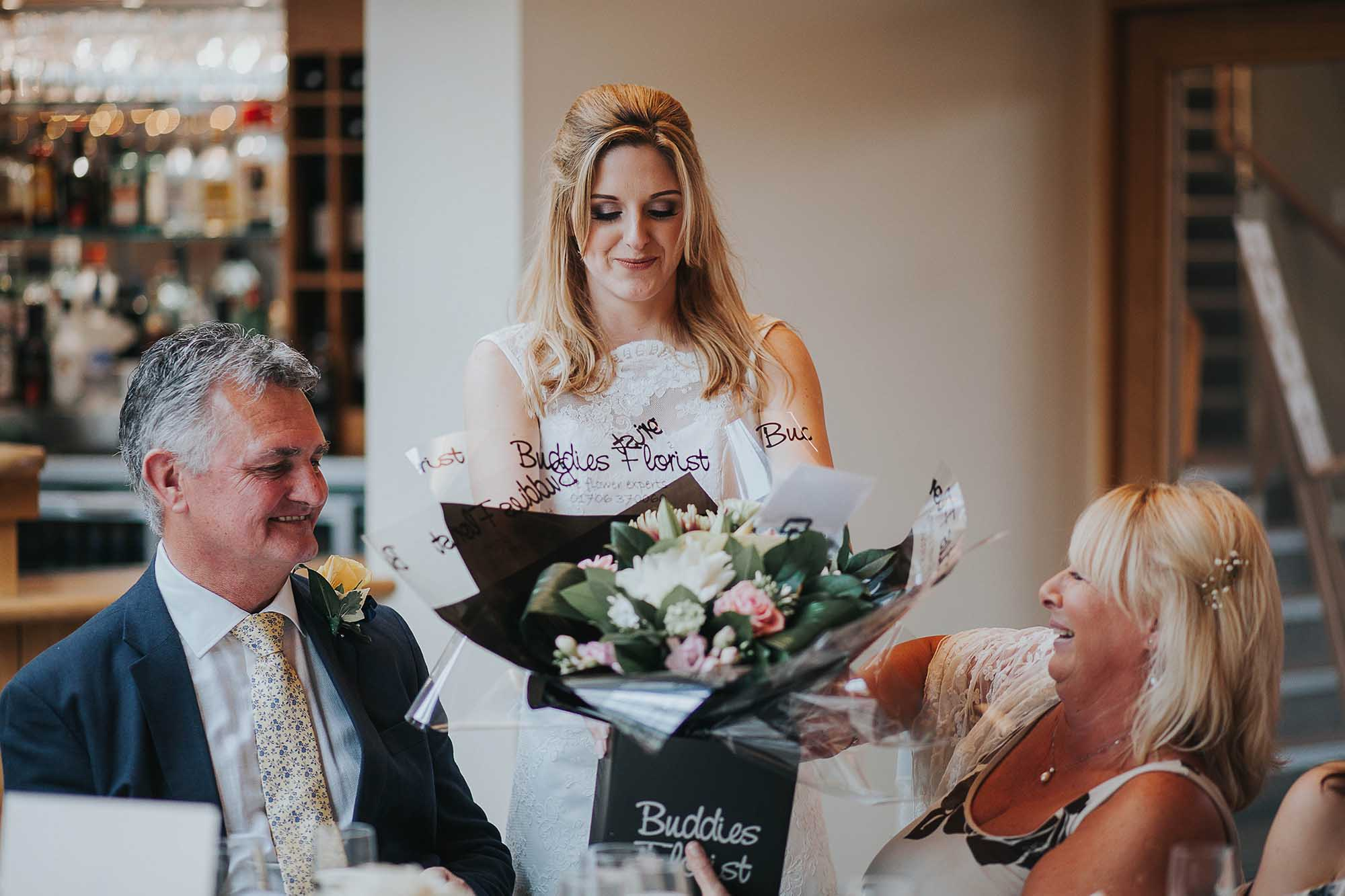 Bride in the Oak Room at The White Hart