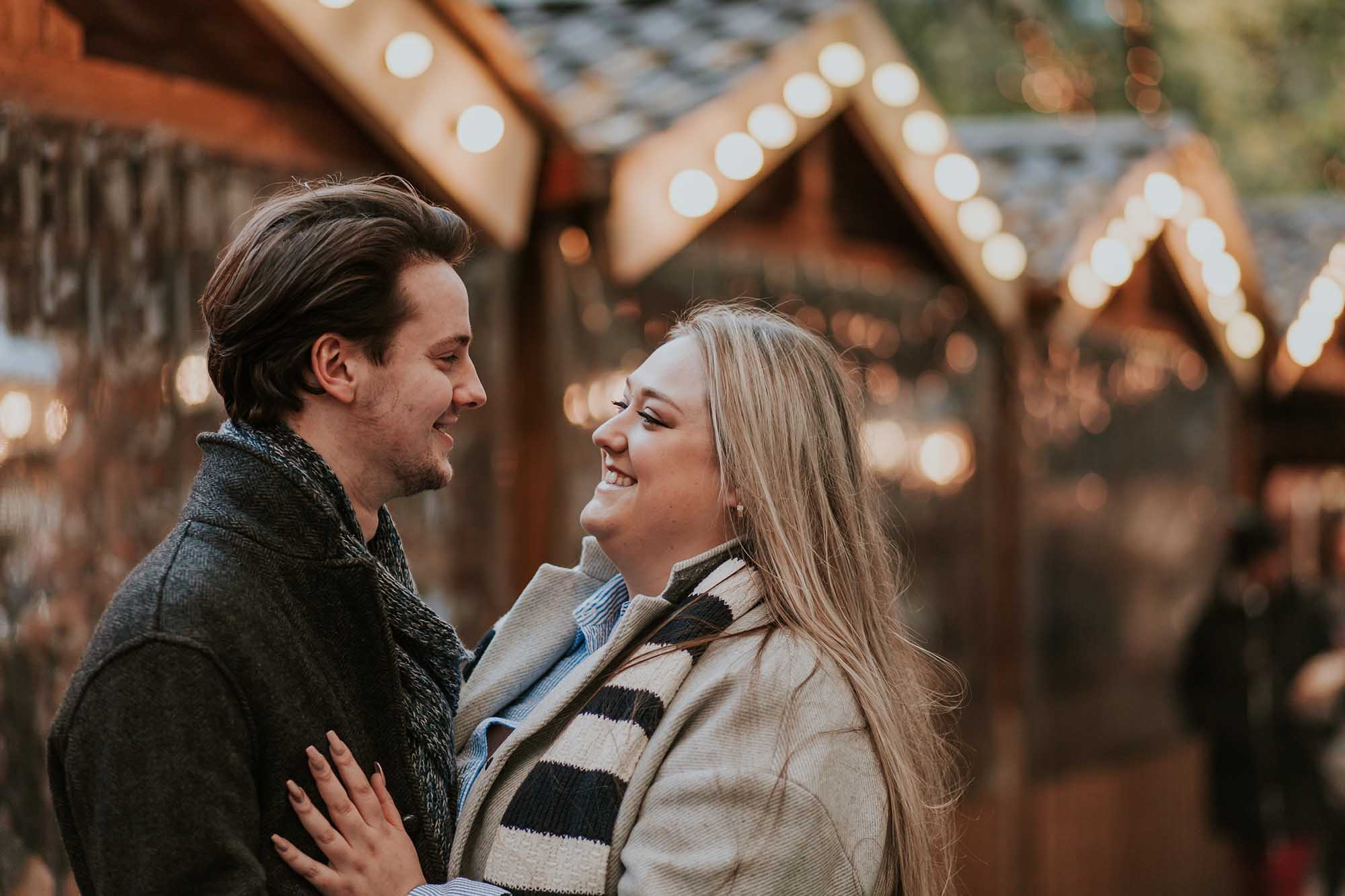 Manchester Christmas markets engagement session