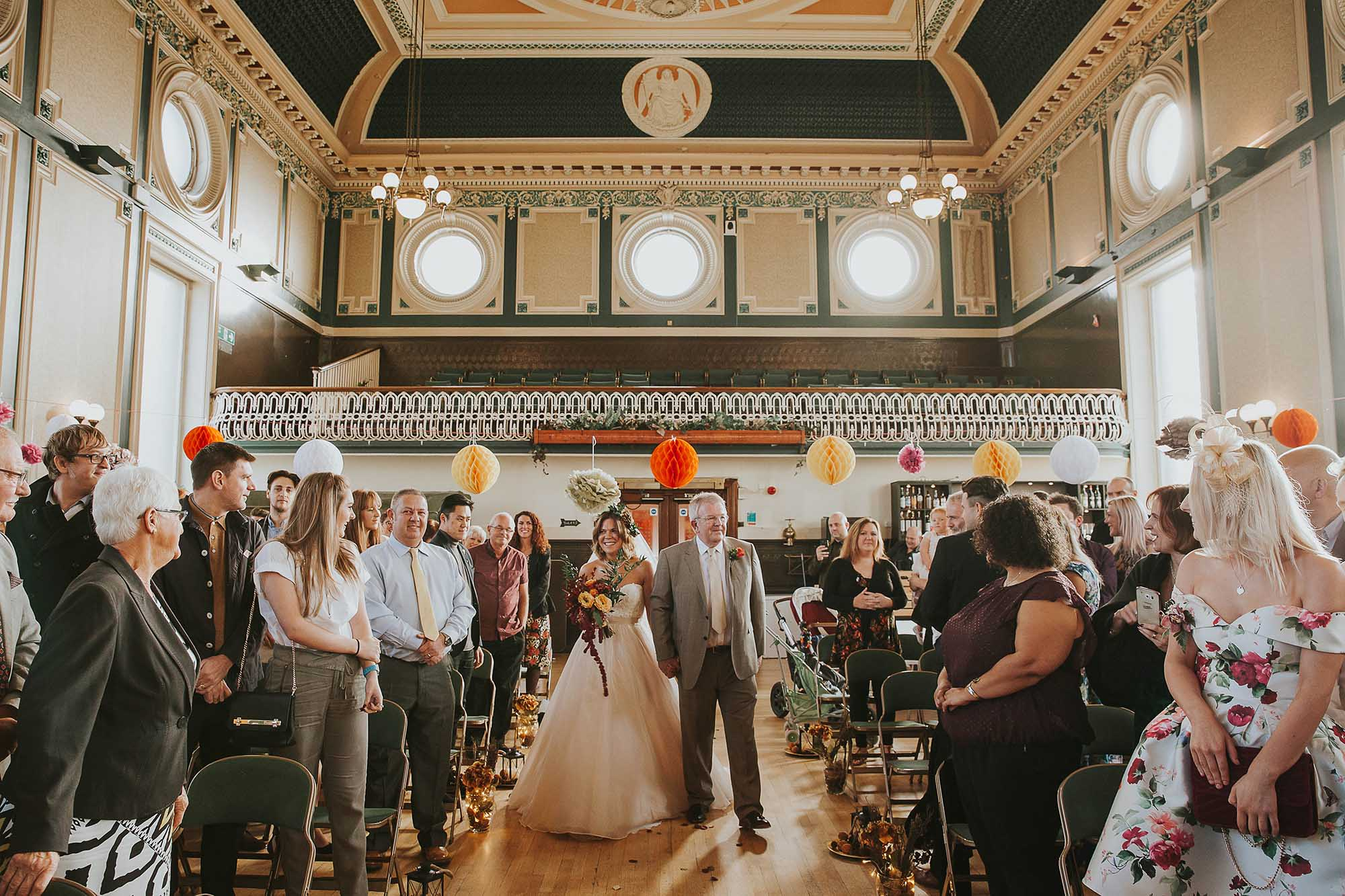wedding ceremony at Todmorden Town Hall