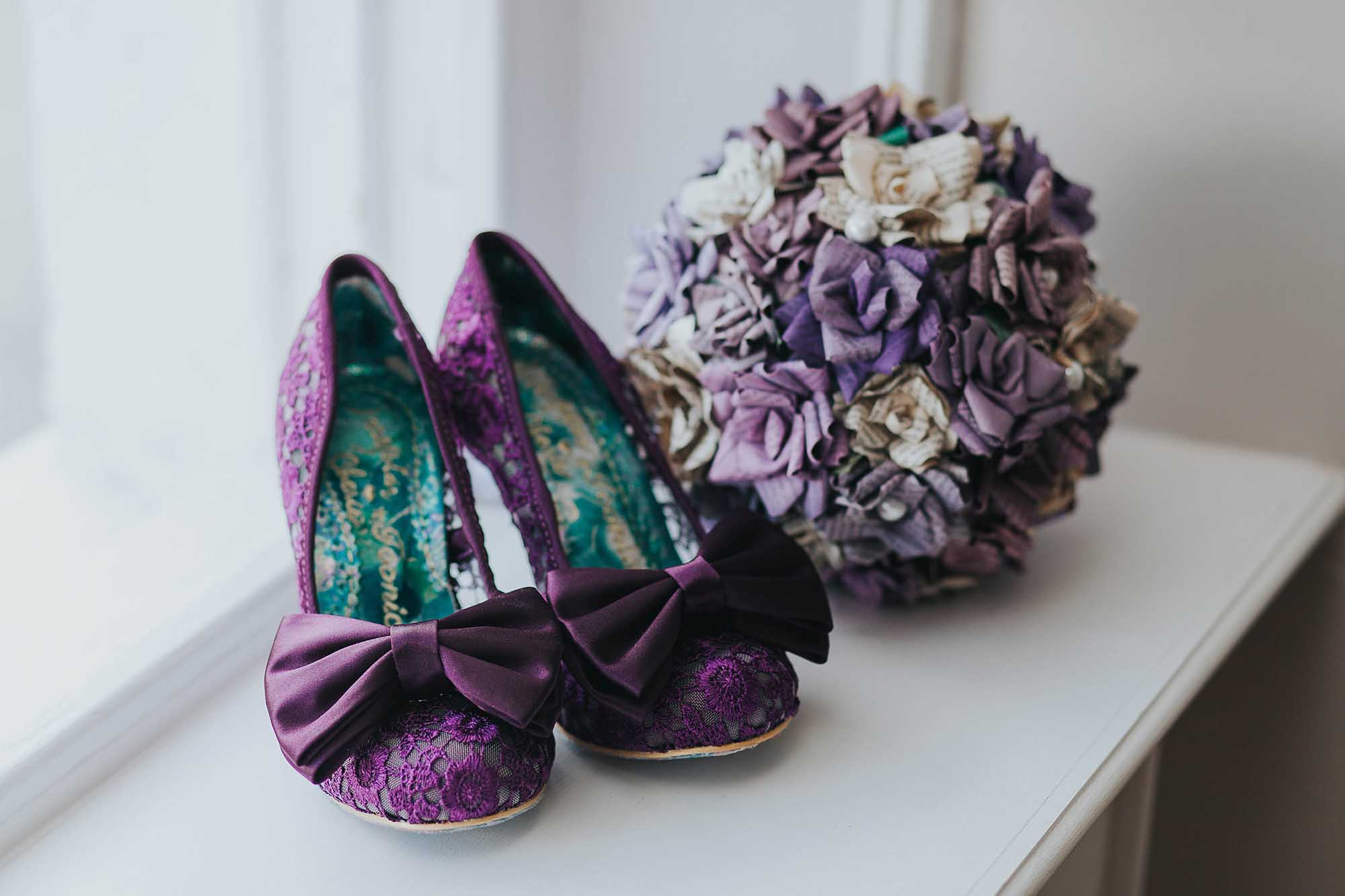 purple irregular choice shoes
