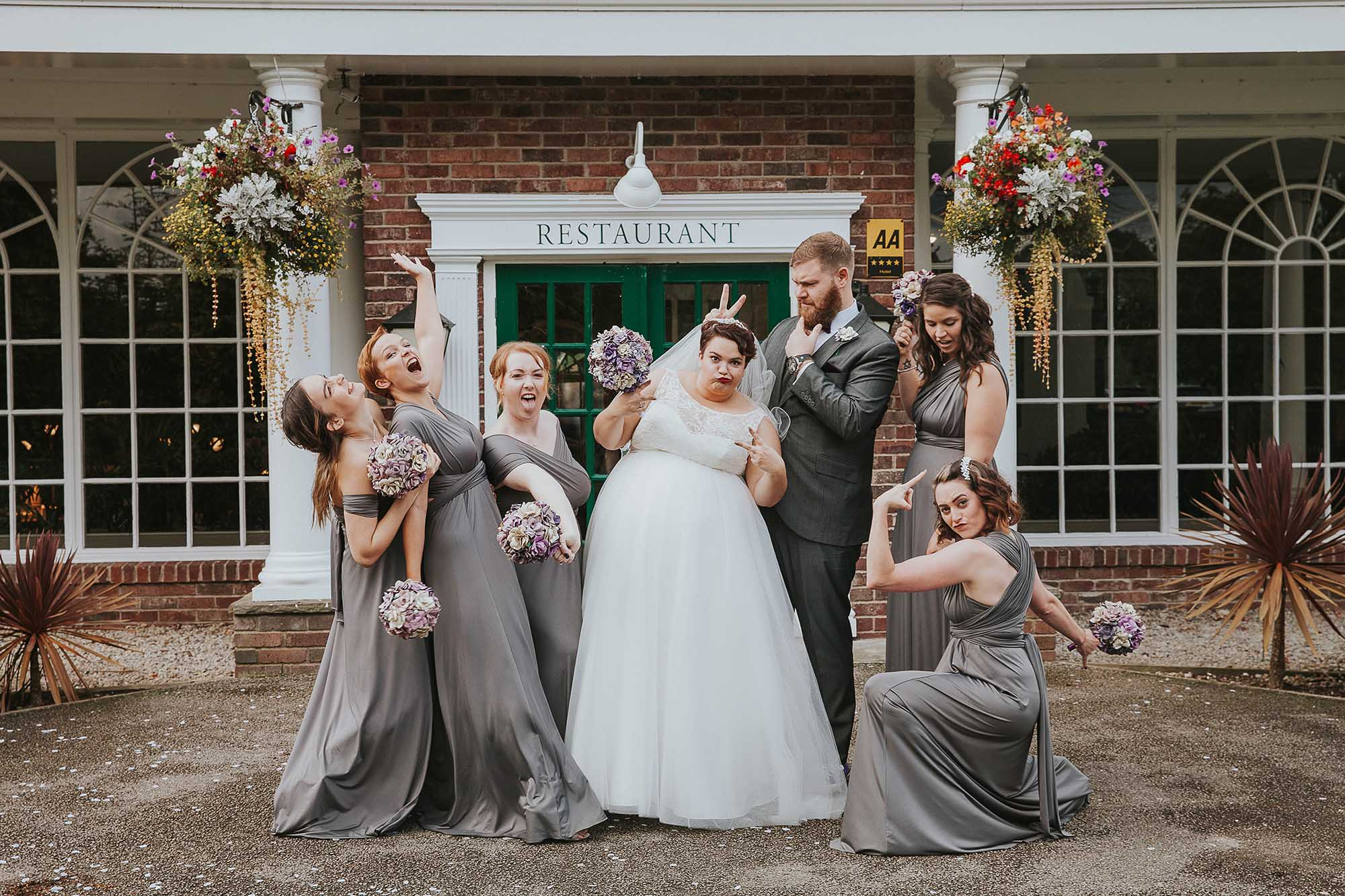 fun wedding party photo Yorkshire