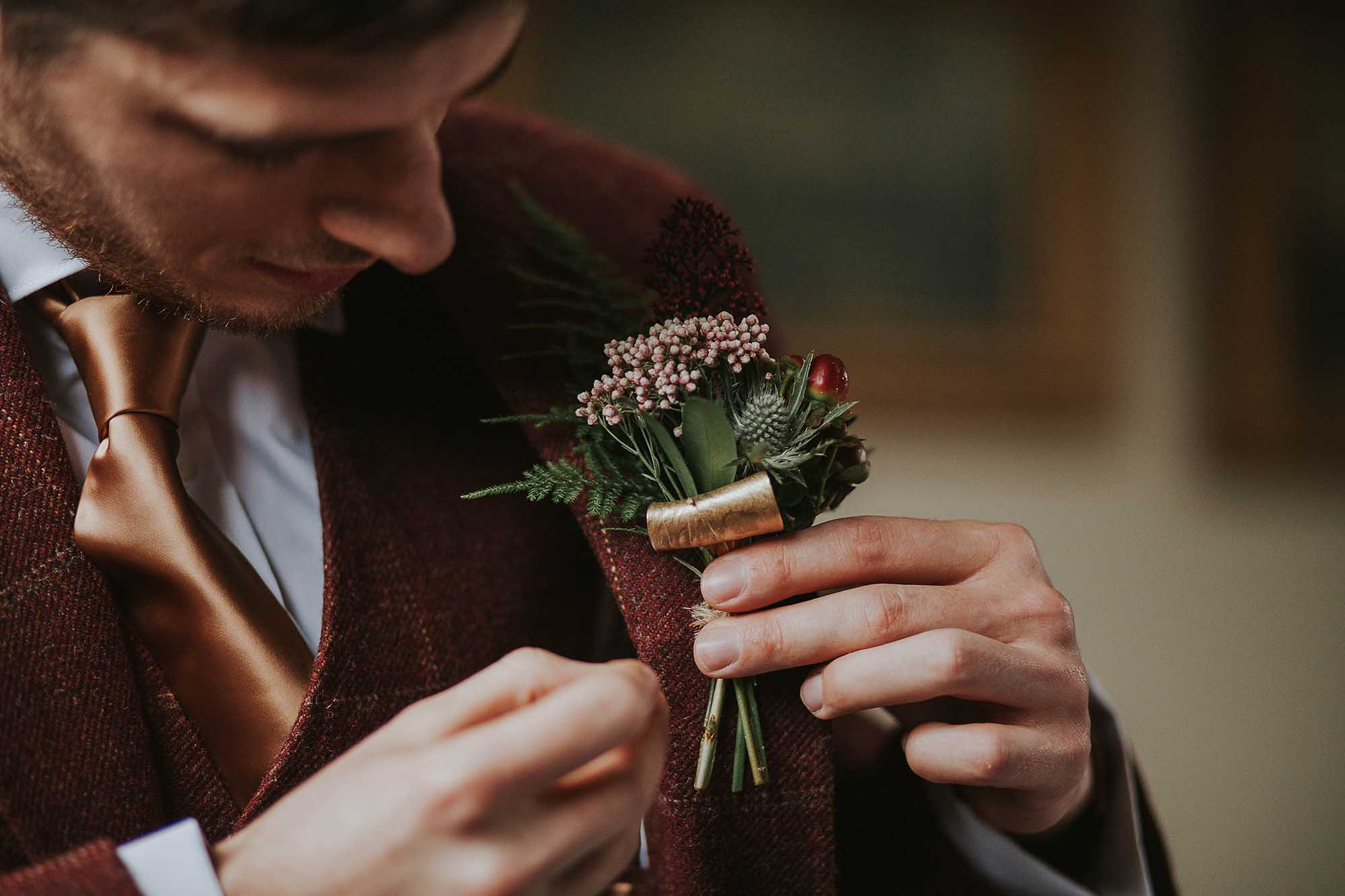 Samlesbury Hall winter wedding