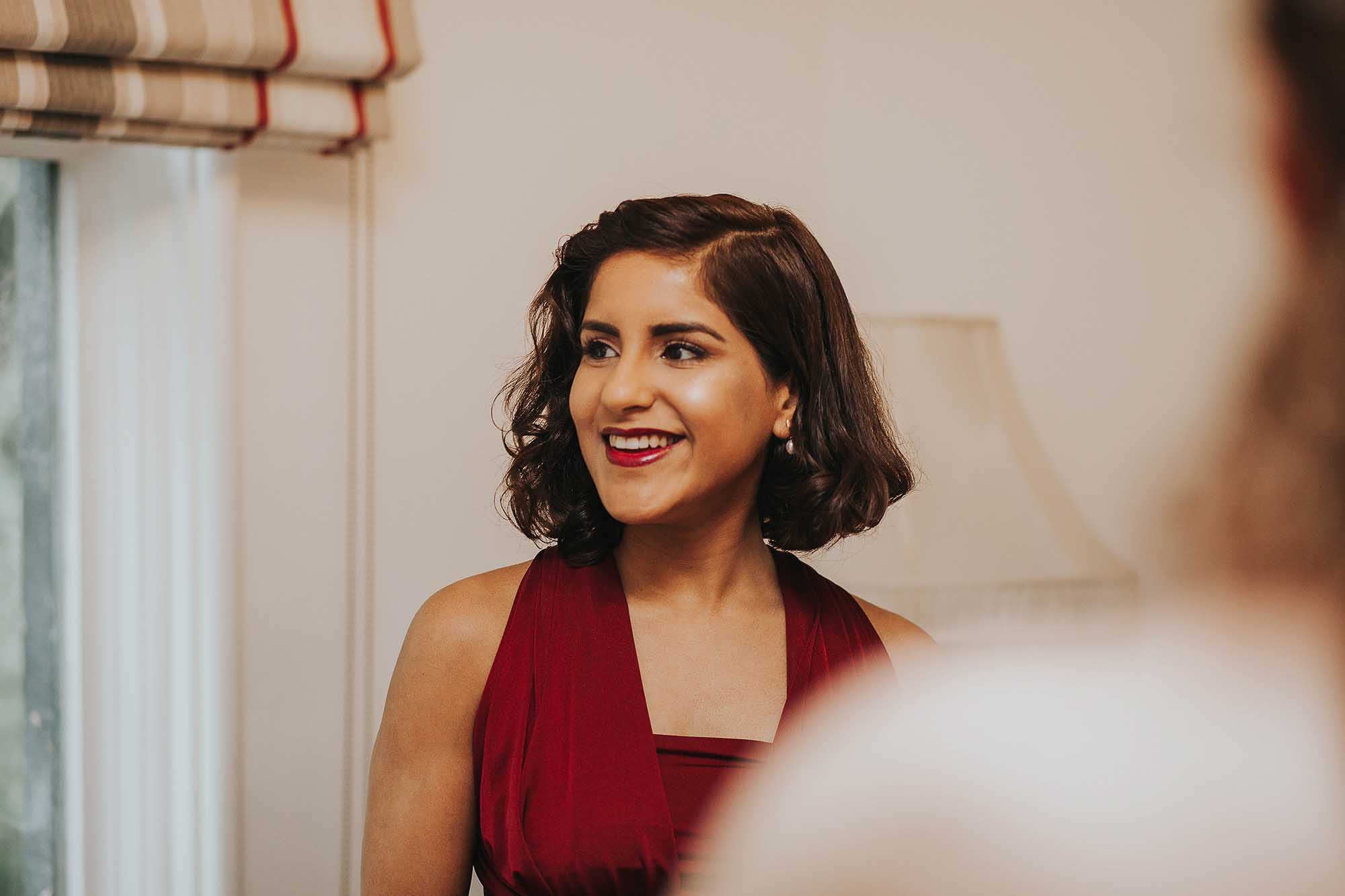 Samlesbury Hall bridesmaid