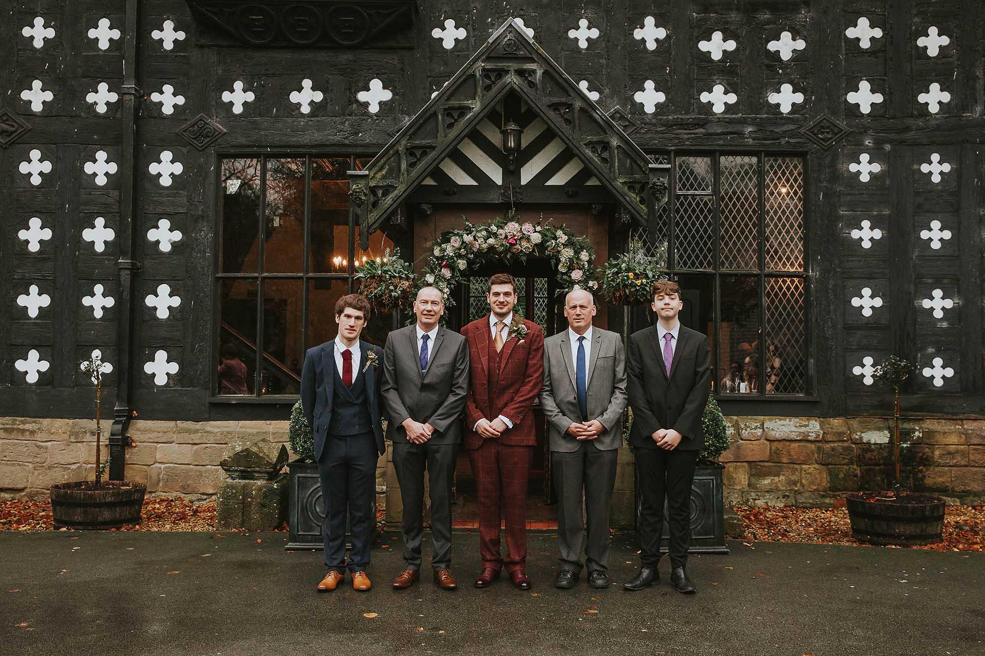 groomsmen at Samlesbury Hall