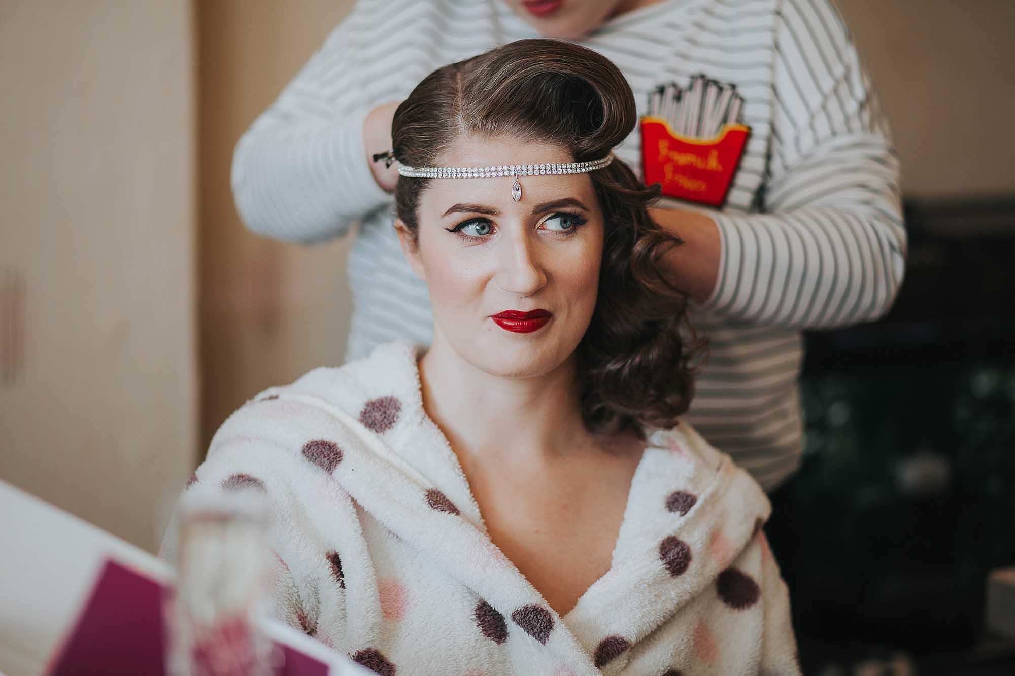 Vintage wedding hair Manchester