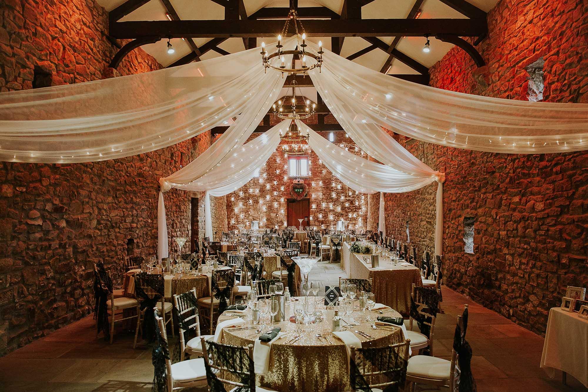Browsholme Hall and Tithe Barn inside