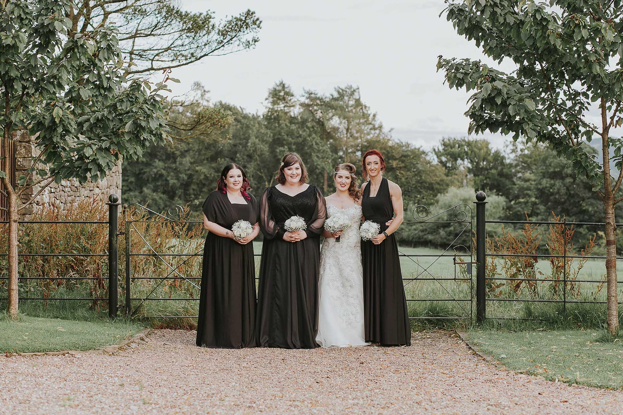 Eliza and Ethan bridesmaid dresses