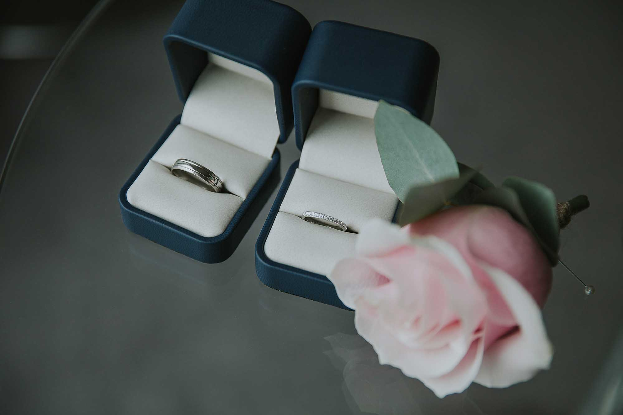 wedding rings at the Hilton Hotel Deansgate