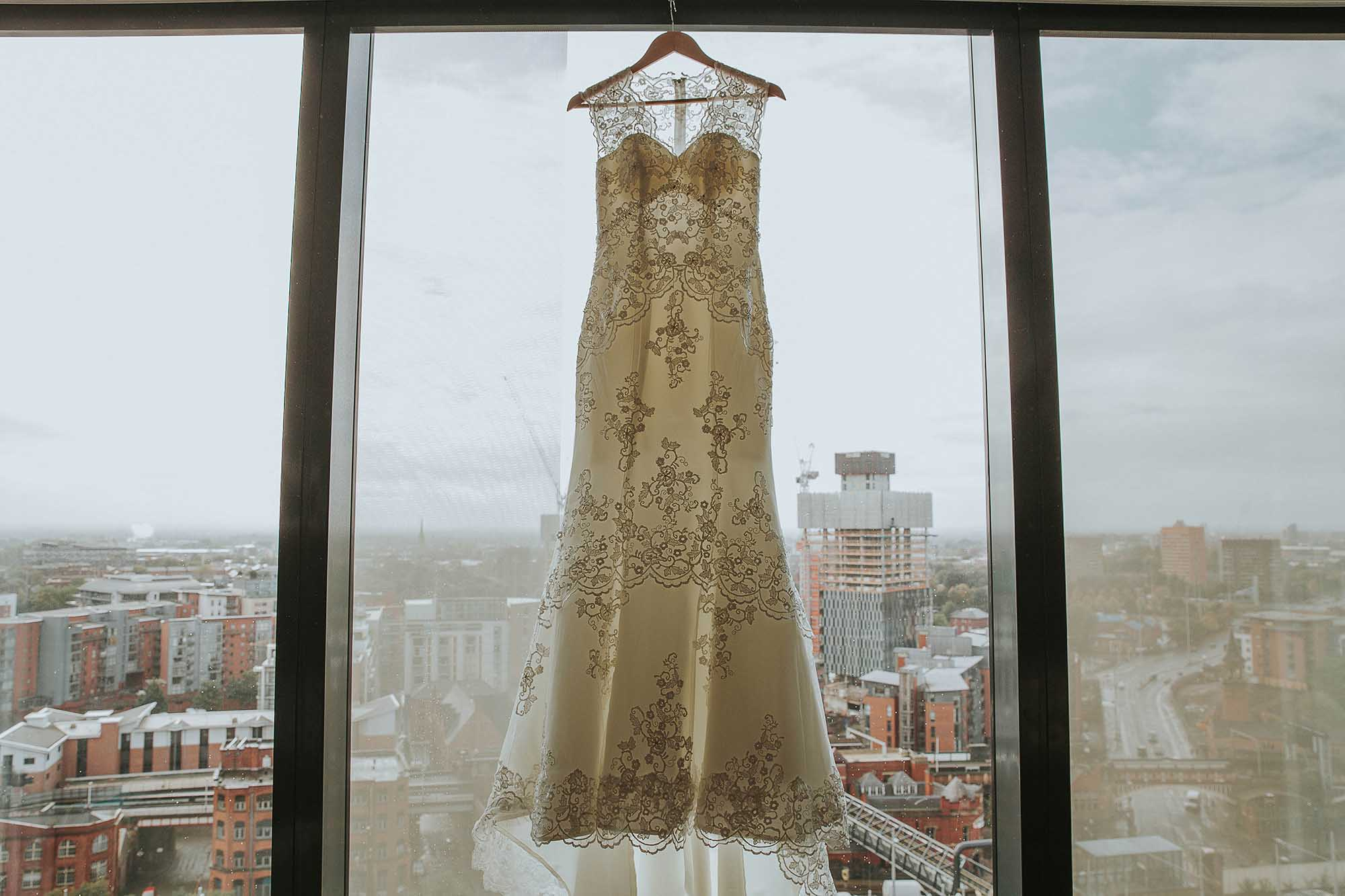 wedding dress at The Castlefield Rooms