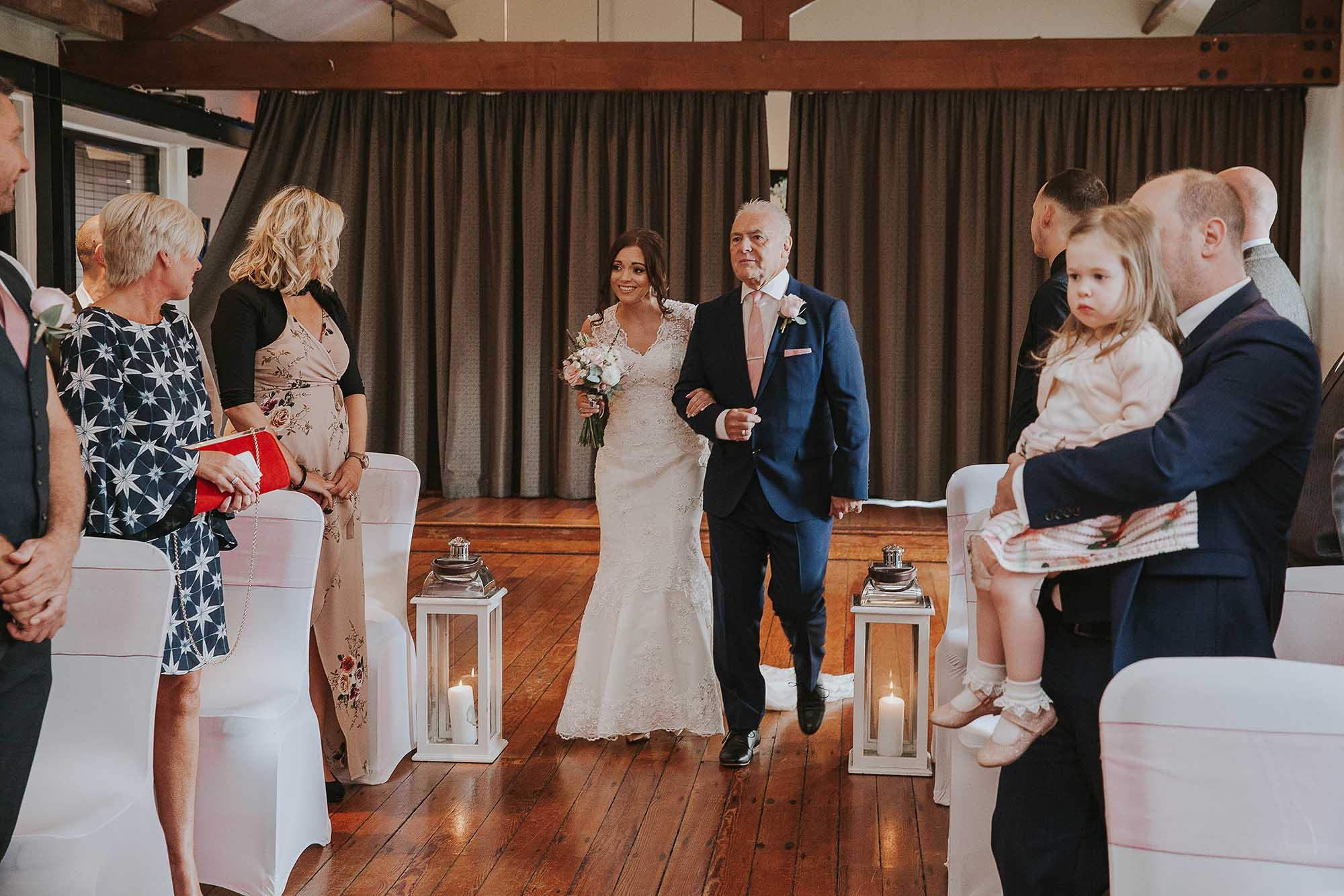 The Castlefield Rooms wedding ceremony