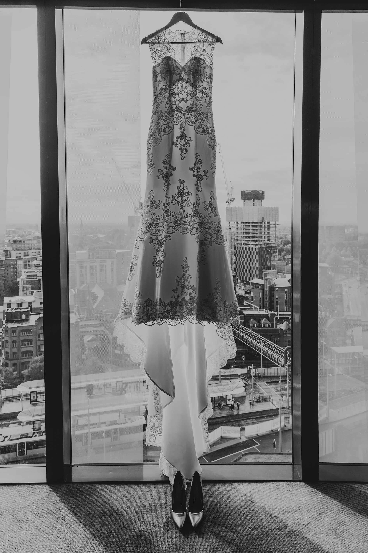 The Castlefield Rooms wedding dress