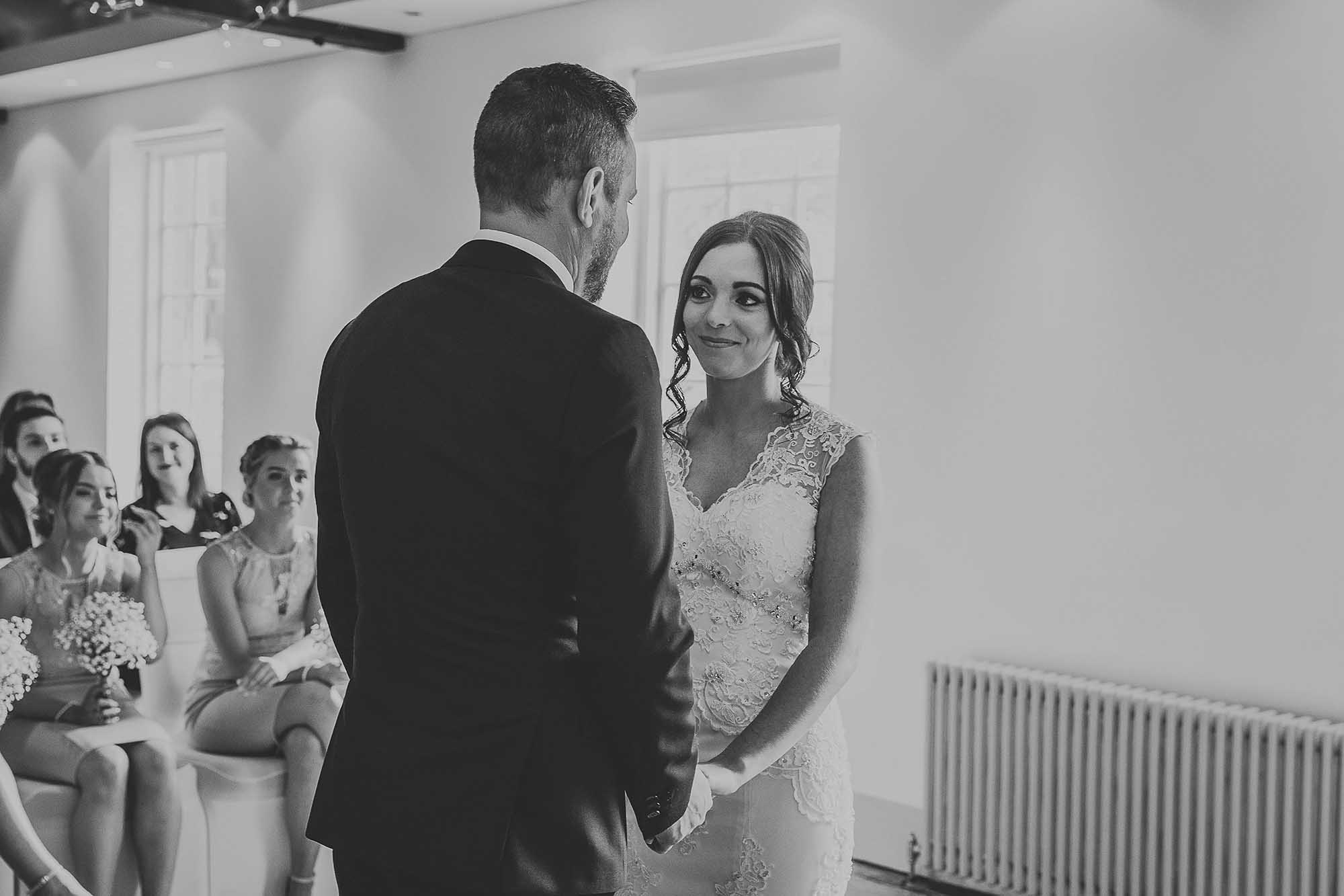 wedding ceremony at The Castlefield Rooms