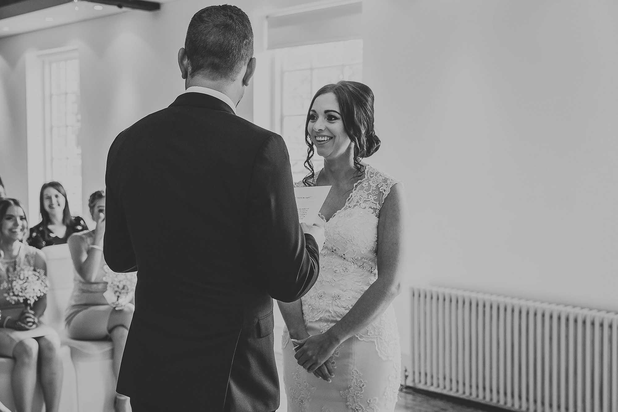 The Castlefield Rooms wedding service