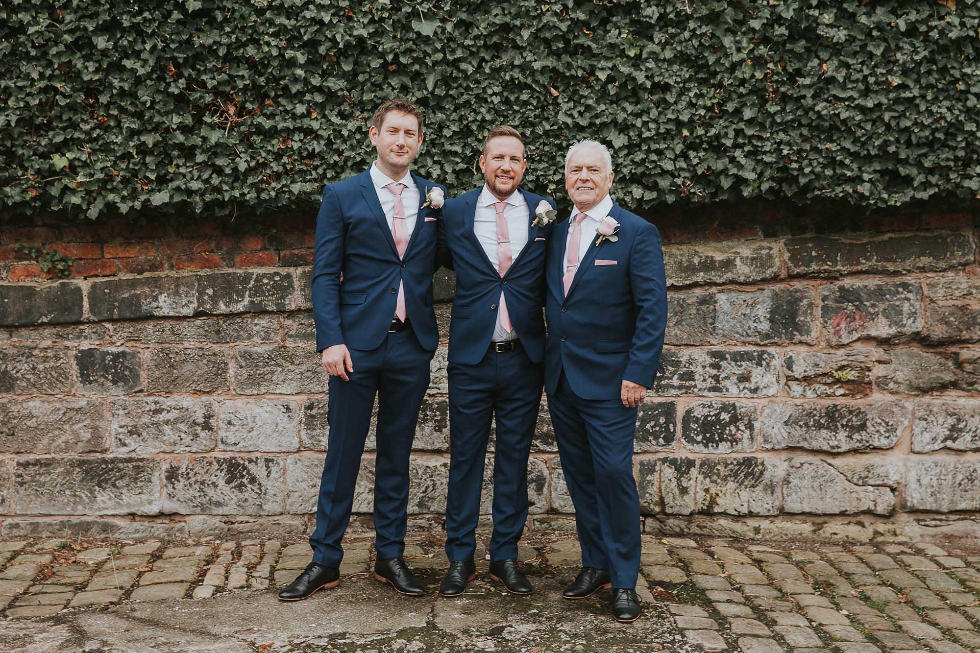 groomsmen at The Castlefield Rooms
