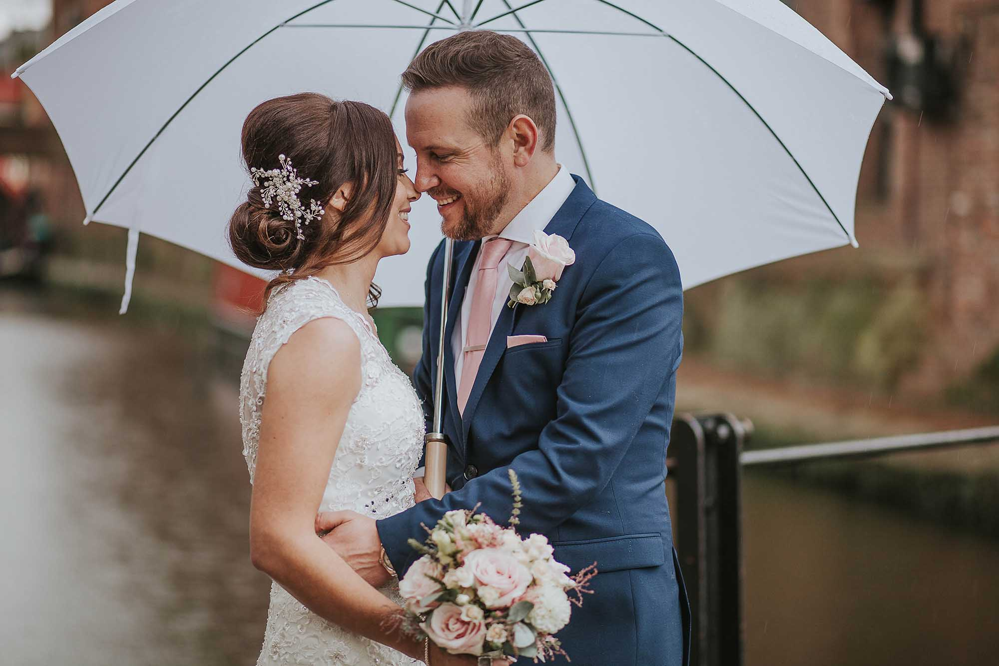 bridal photographs The Castlefield Rooms