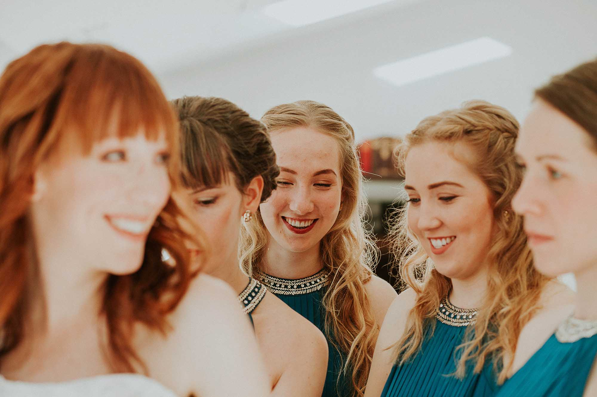 bridal party Sheffield wedding