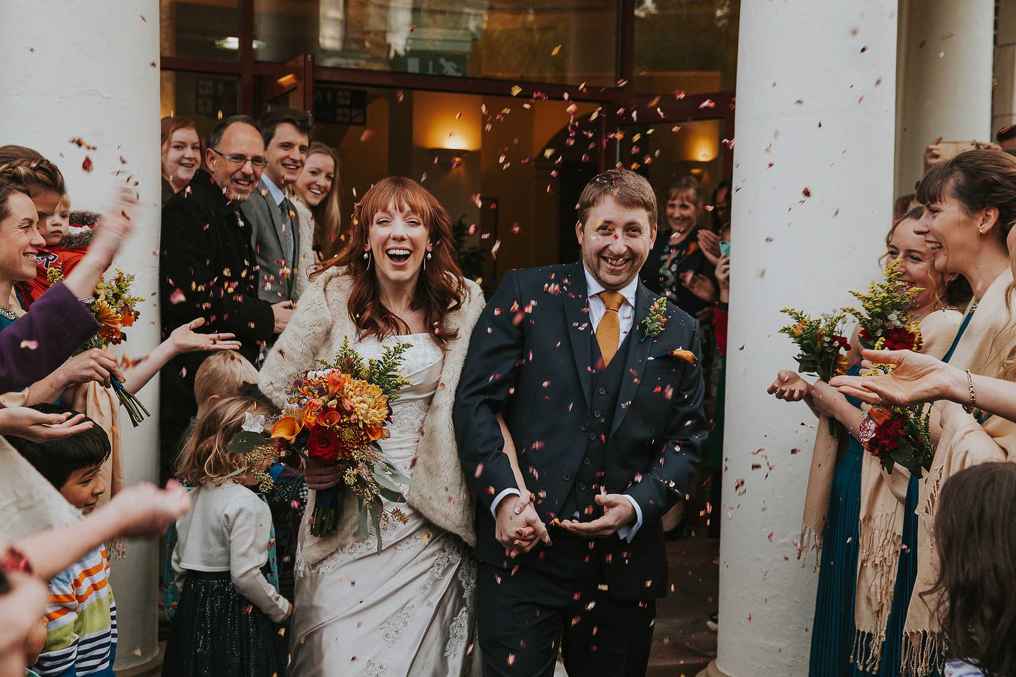 confetti bride groom Sheffield wedding