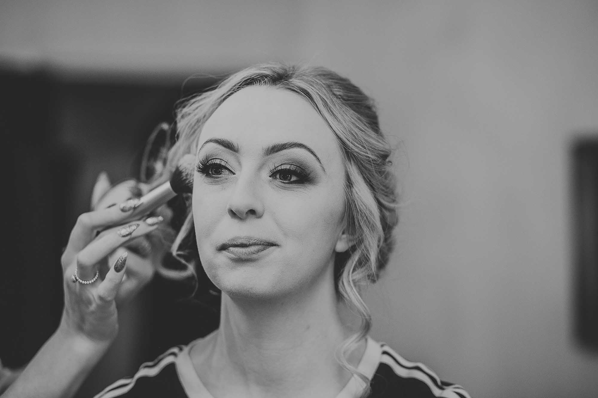 bride getting ready at Holdsworth House