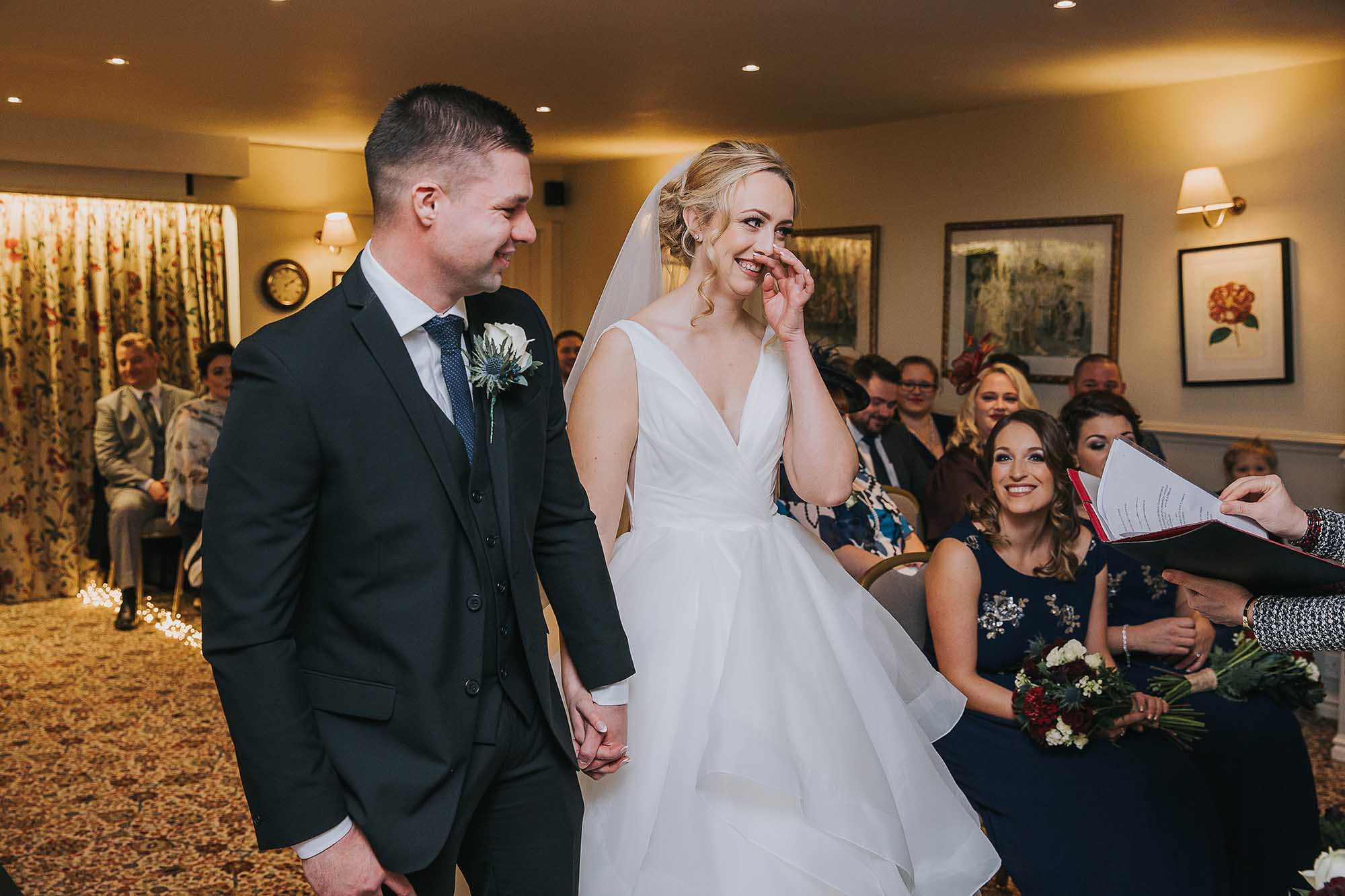 wedding ceremony at Holdsworth House