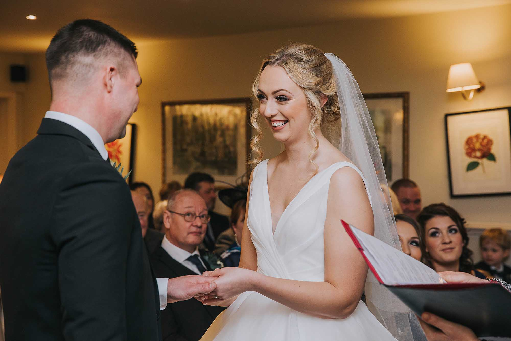 wedding ceremony at Holdsworth House in Halifax West Yorkshire