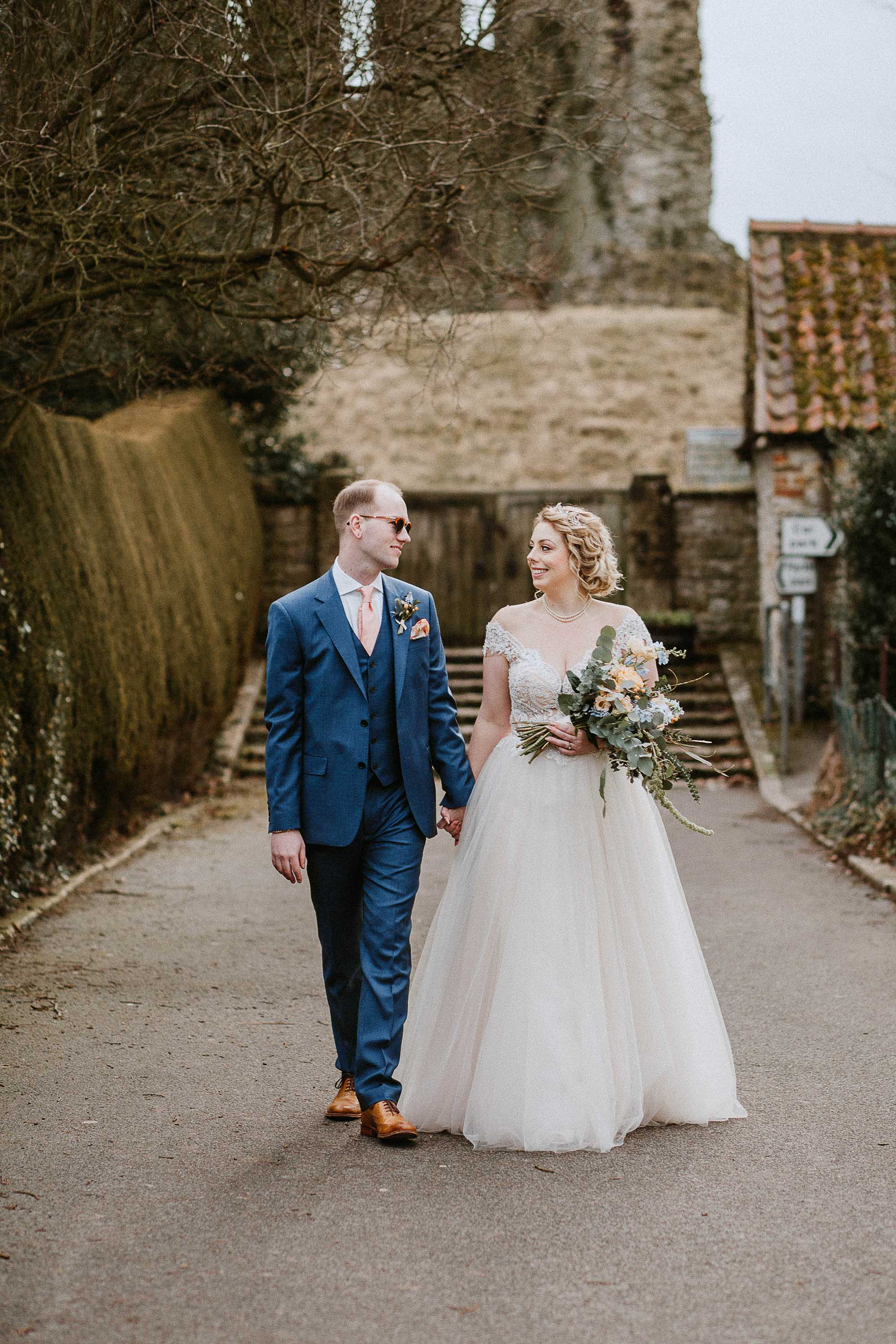 wedding photography at Helmsley Castle