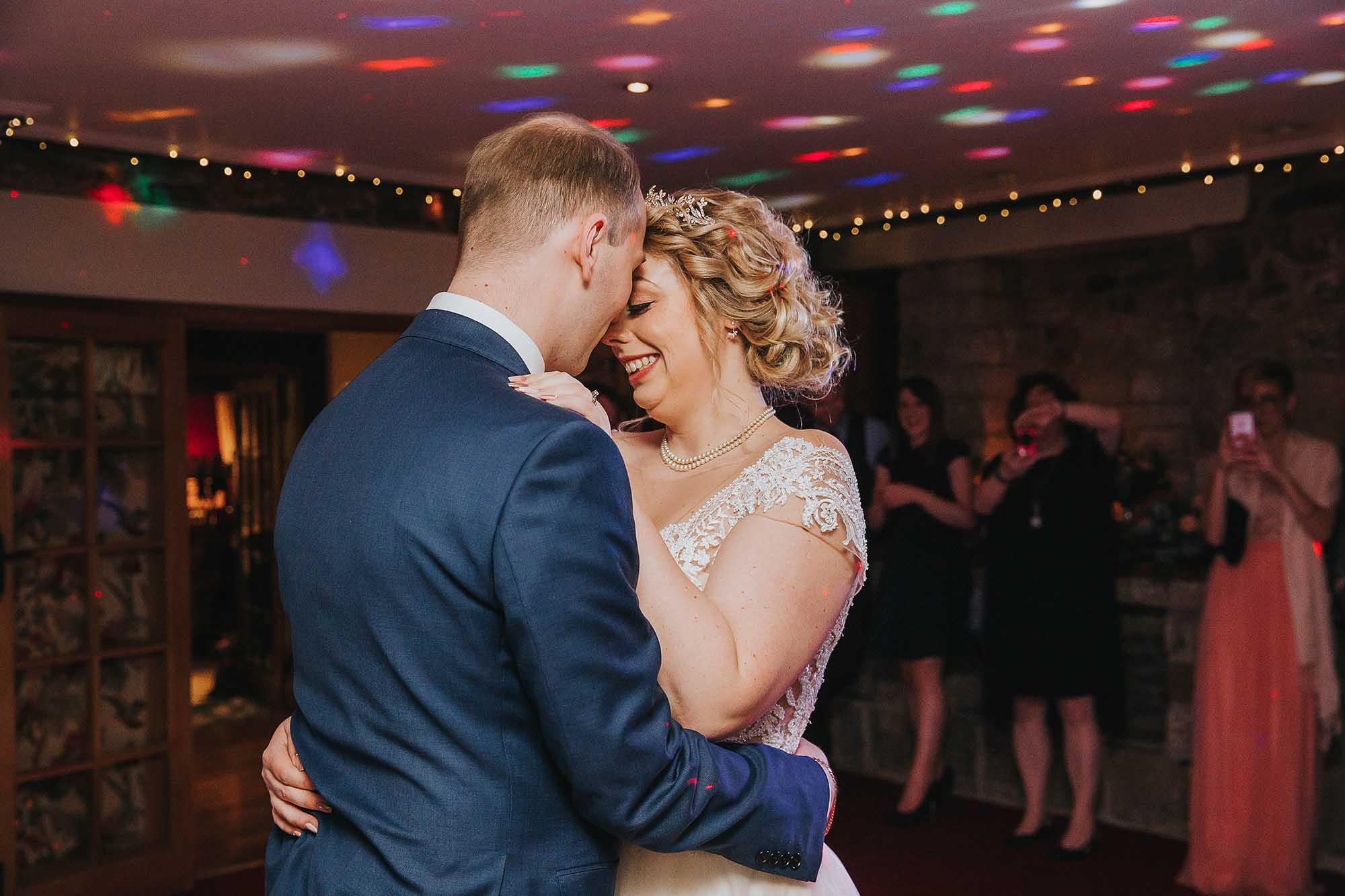 bride and groom's first dance at Black Swan Hotel