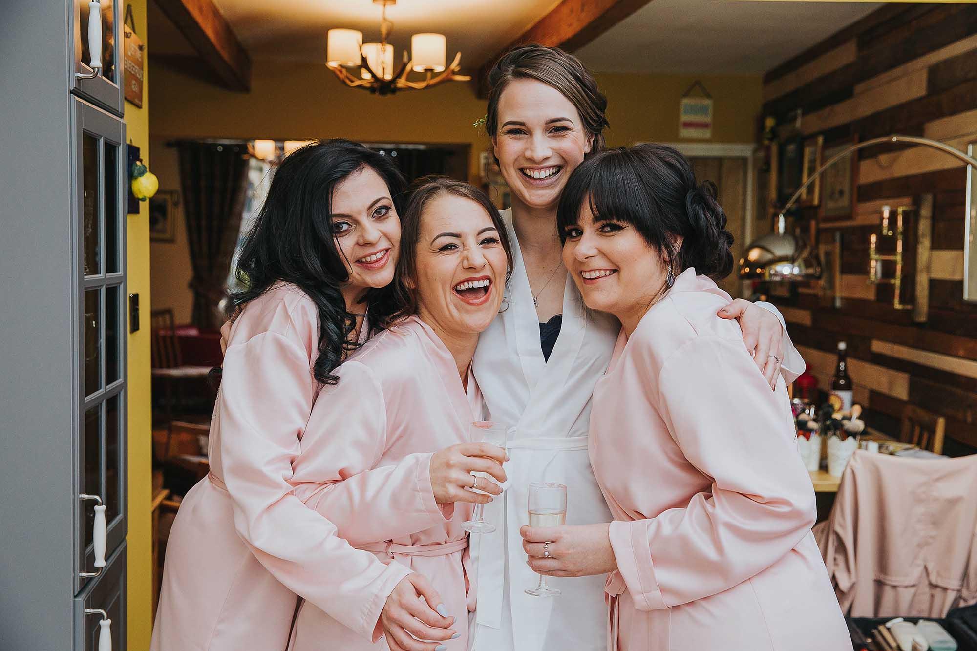 bridesmaids at Bolton School wedding