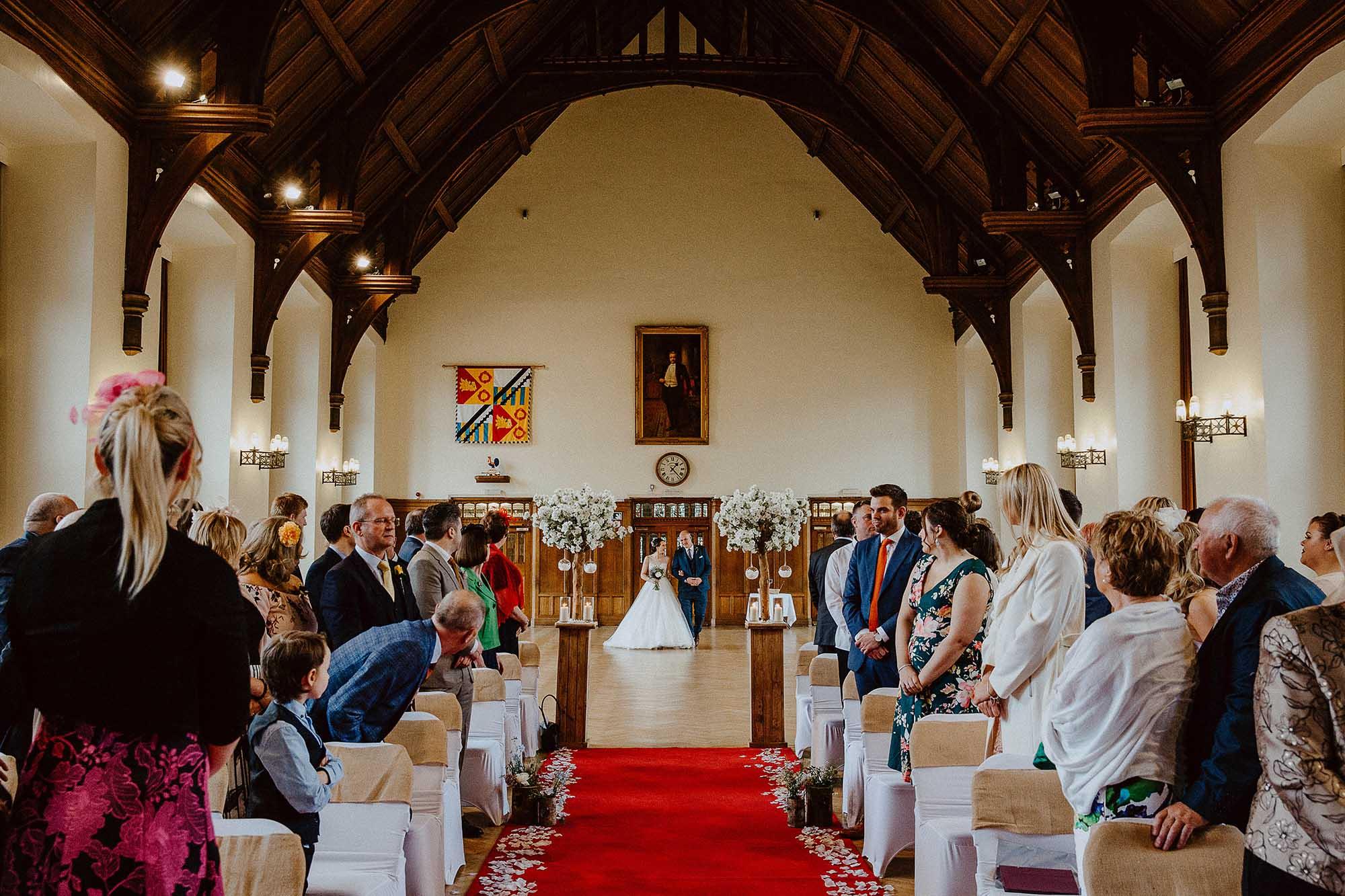Bolton School wedding ceremony room