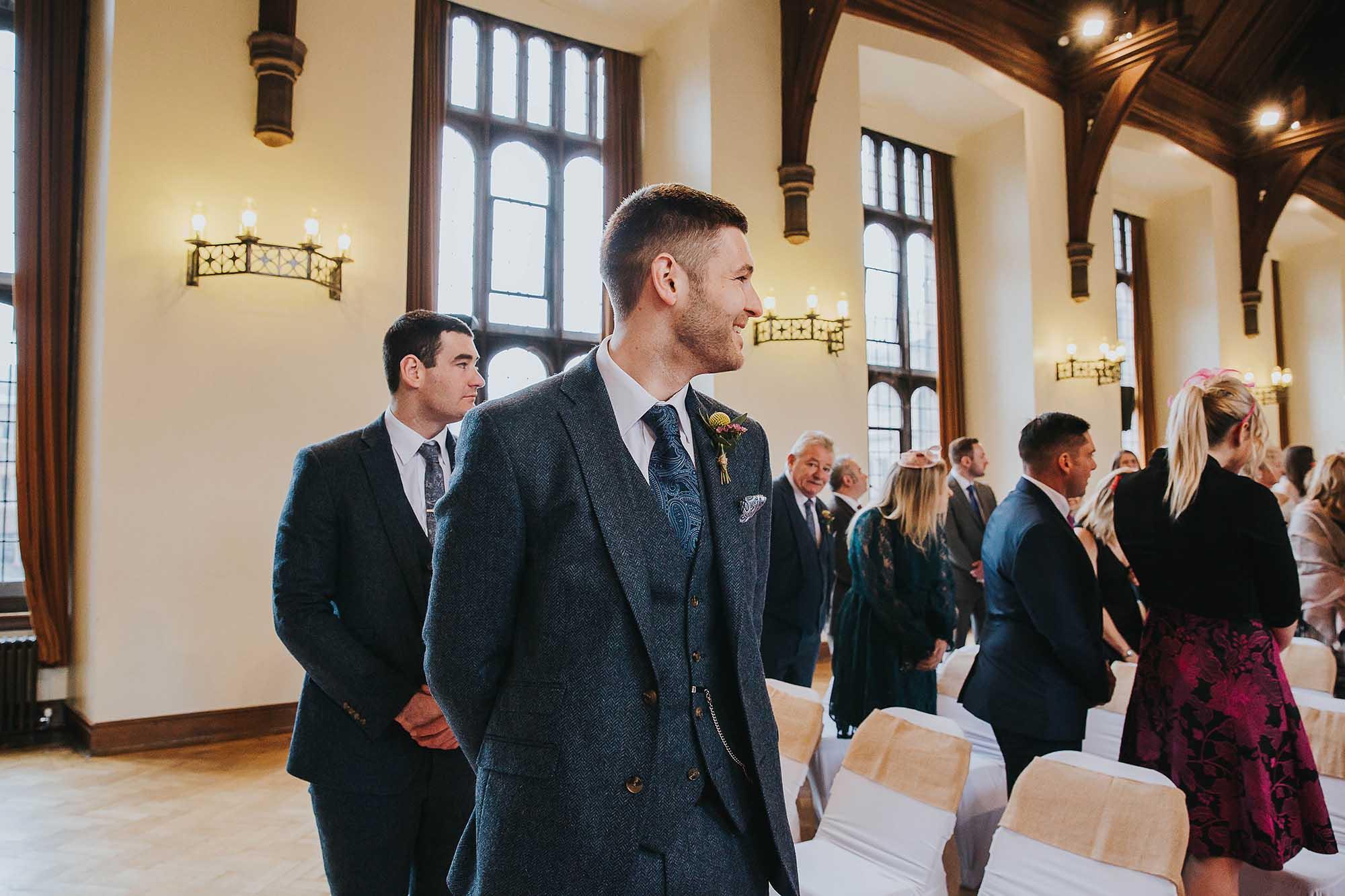 wedding ceremony in Bolton School