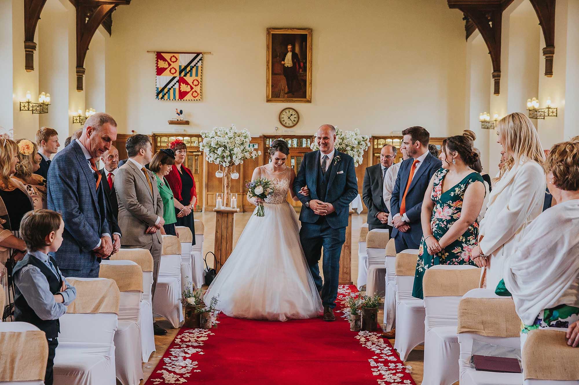 Bolton School wedding ceremony