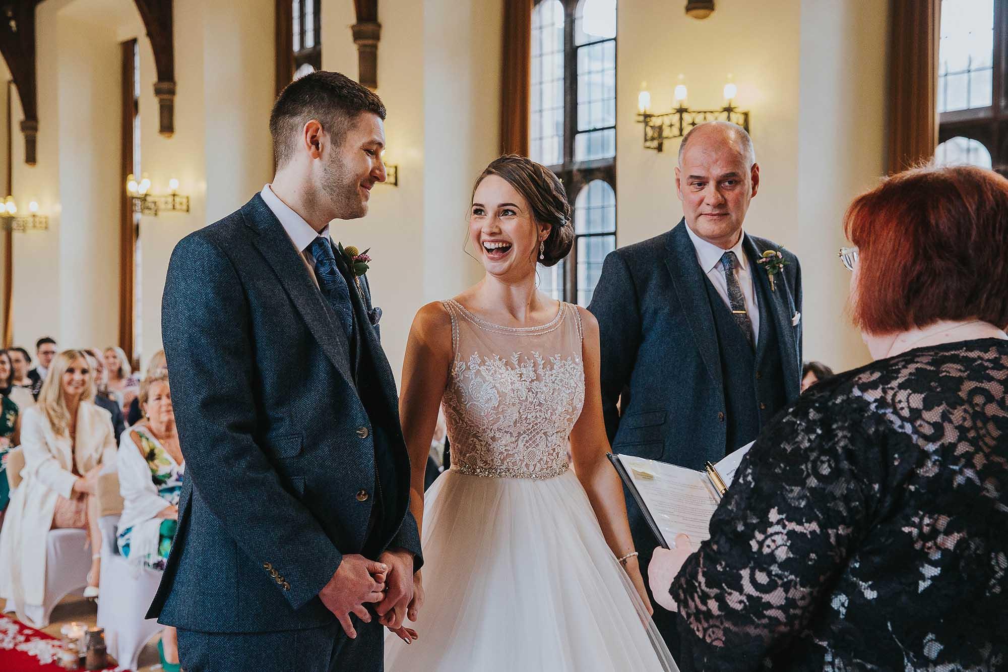 wedding service at Bolton School