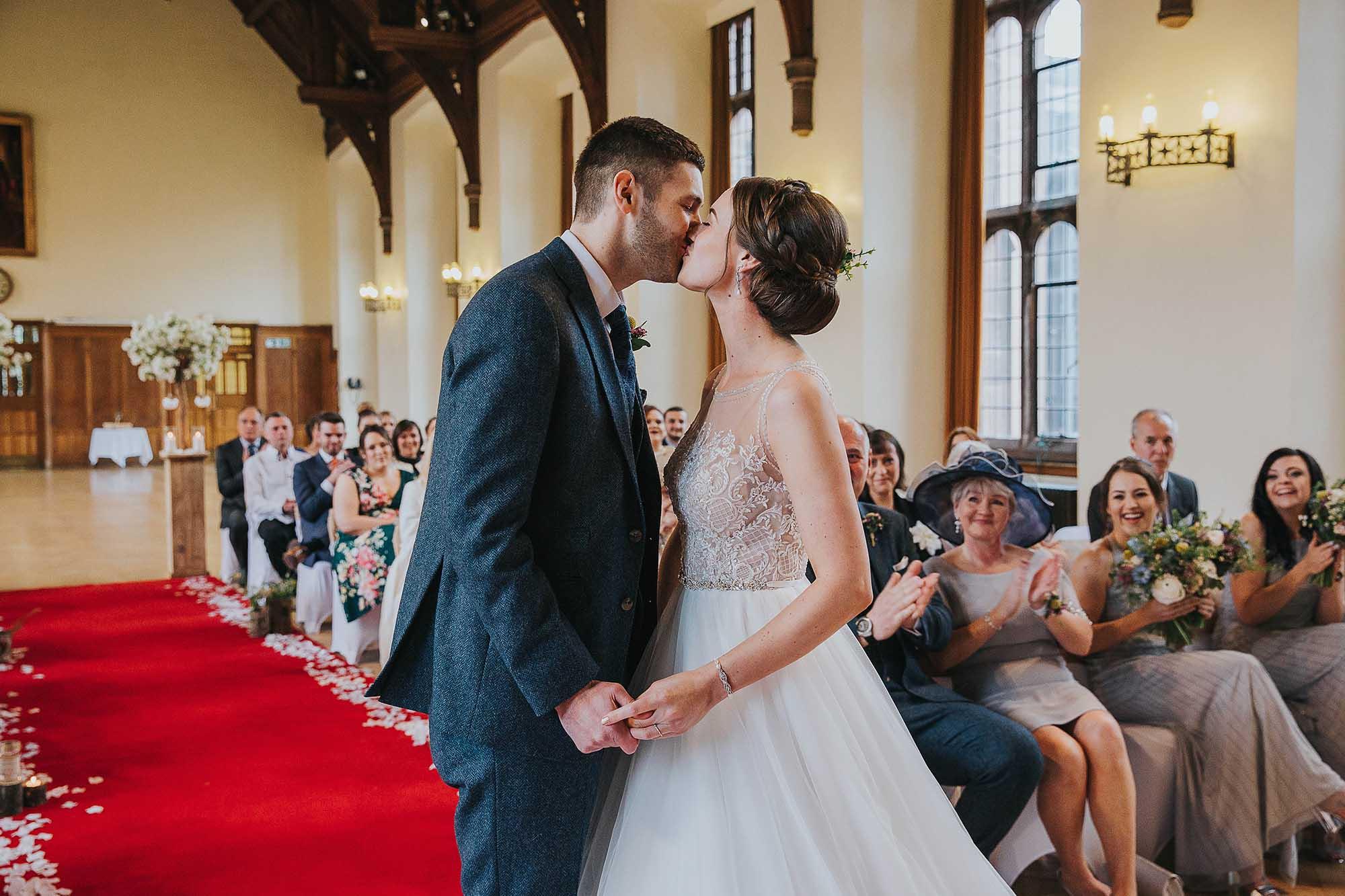 bride and groom wedding ceremony in Bolton