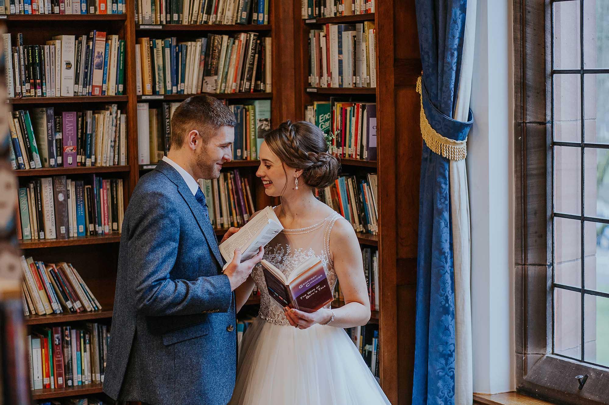 library Bolton School wedding photos