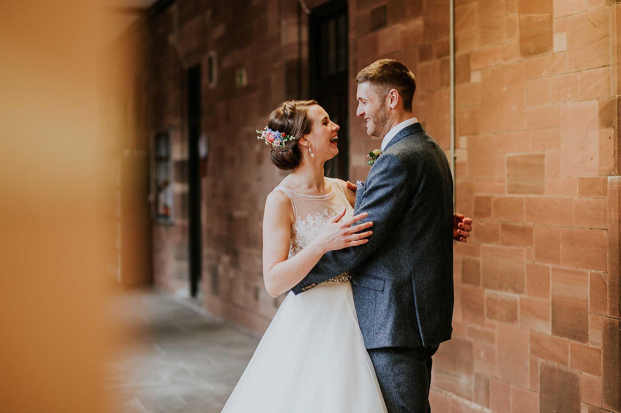natural wedding photography Bolton School