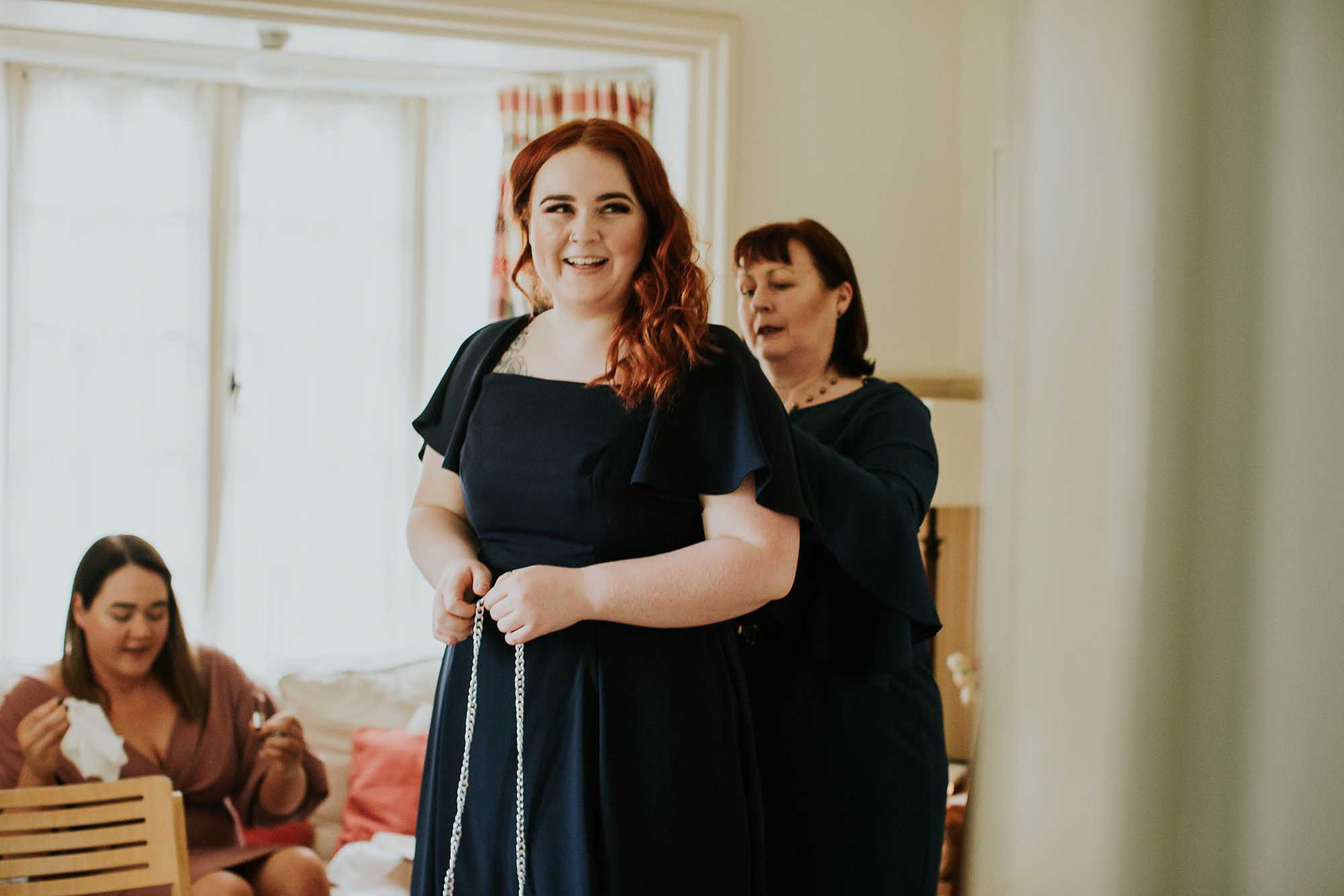 bridal prep at Combermere Abbey
