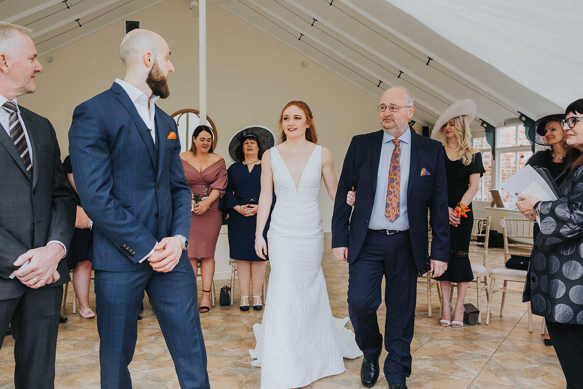 Combermere Abbey wedding Glasshouse ceremony
