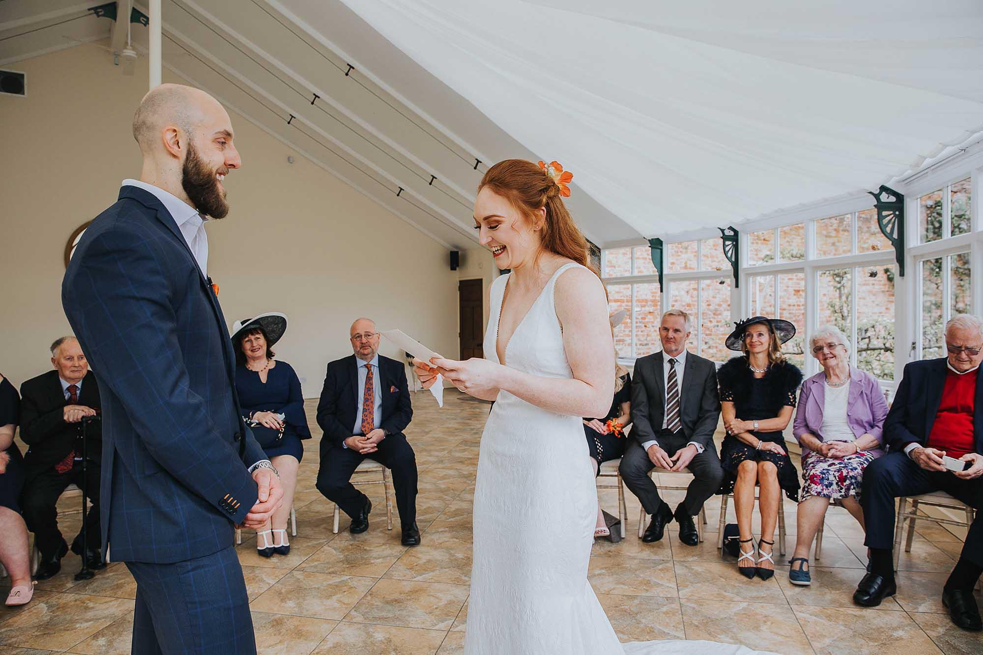 Combermere Abbey wedding ceremony