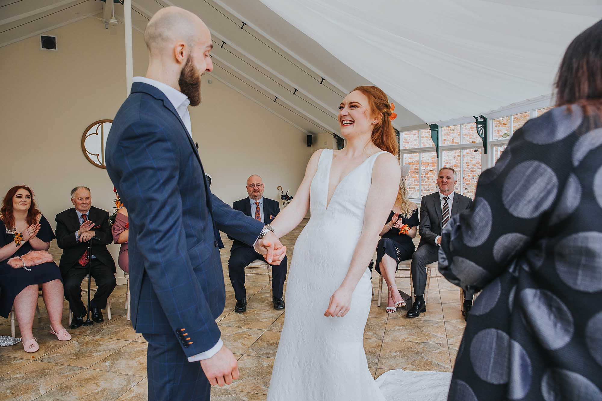 Combermere Abbey conservatory wedding