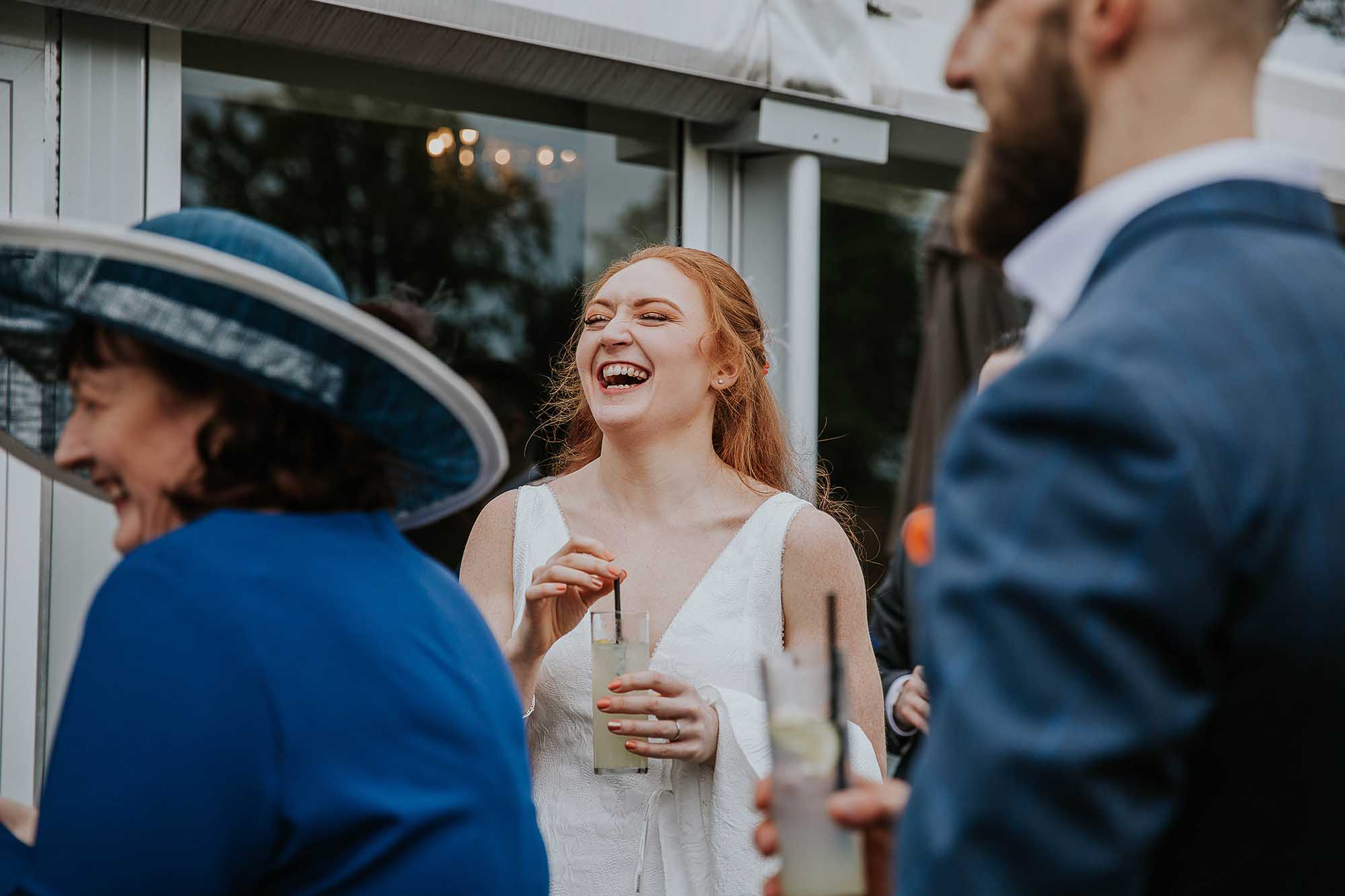 relaxed wedding photography Combermere Abbey