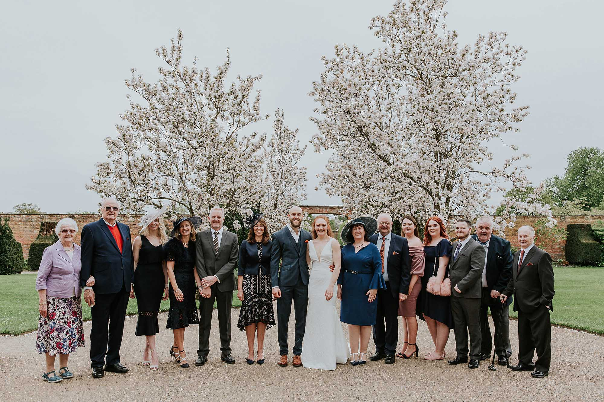 big group photography Combermere Abbey