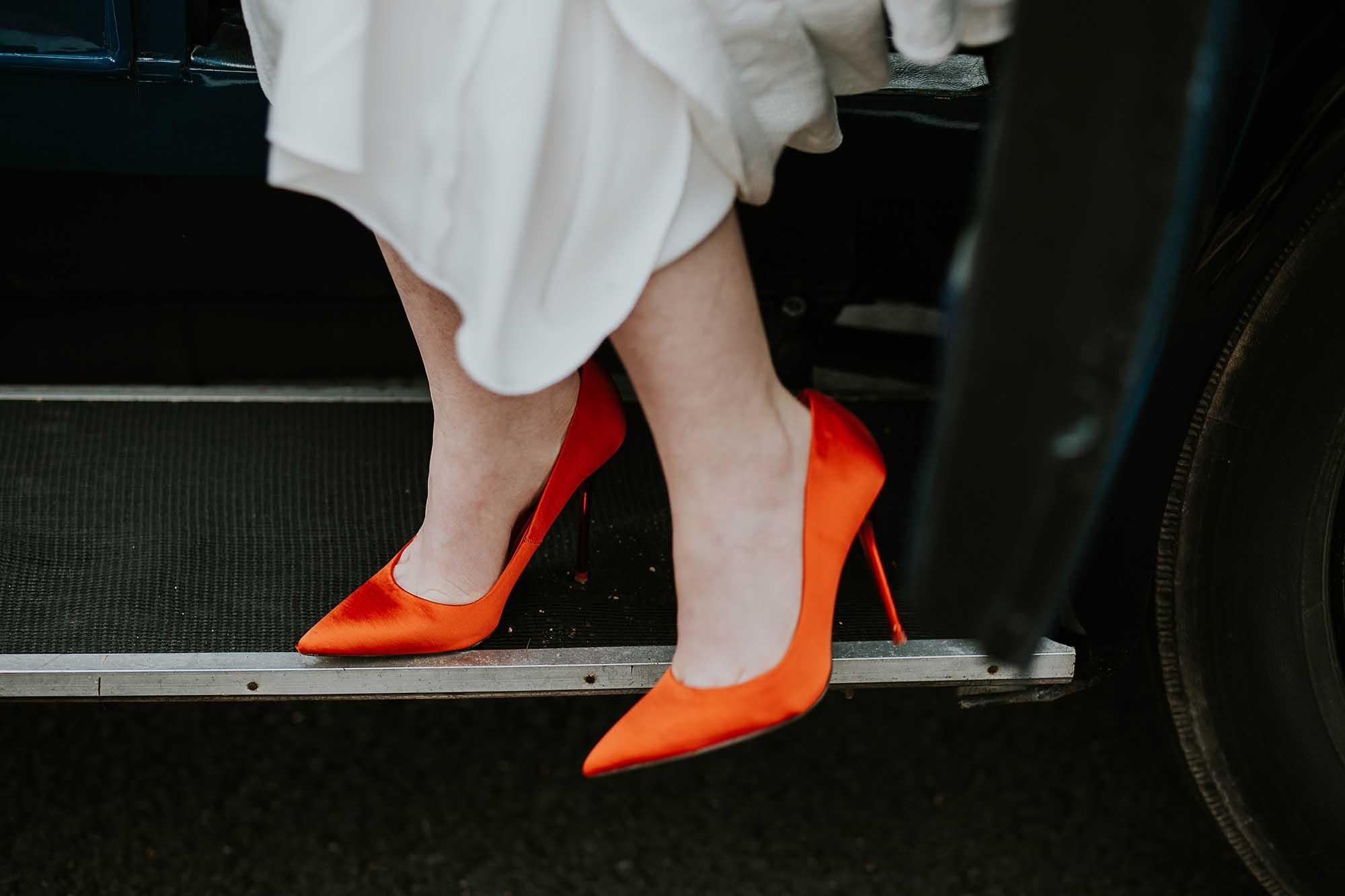 orange Zara shoes