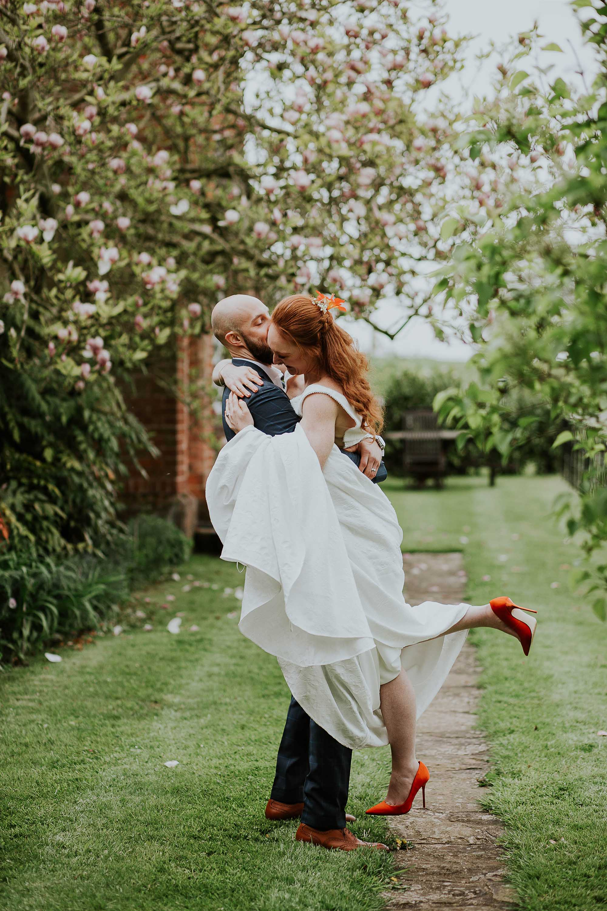fun wedding photography Combermere Abbey