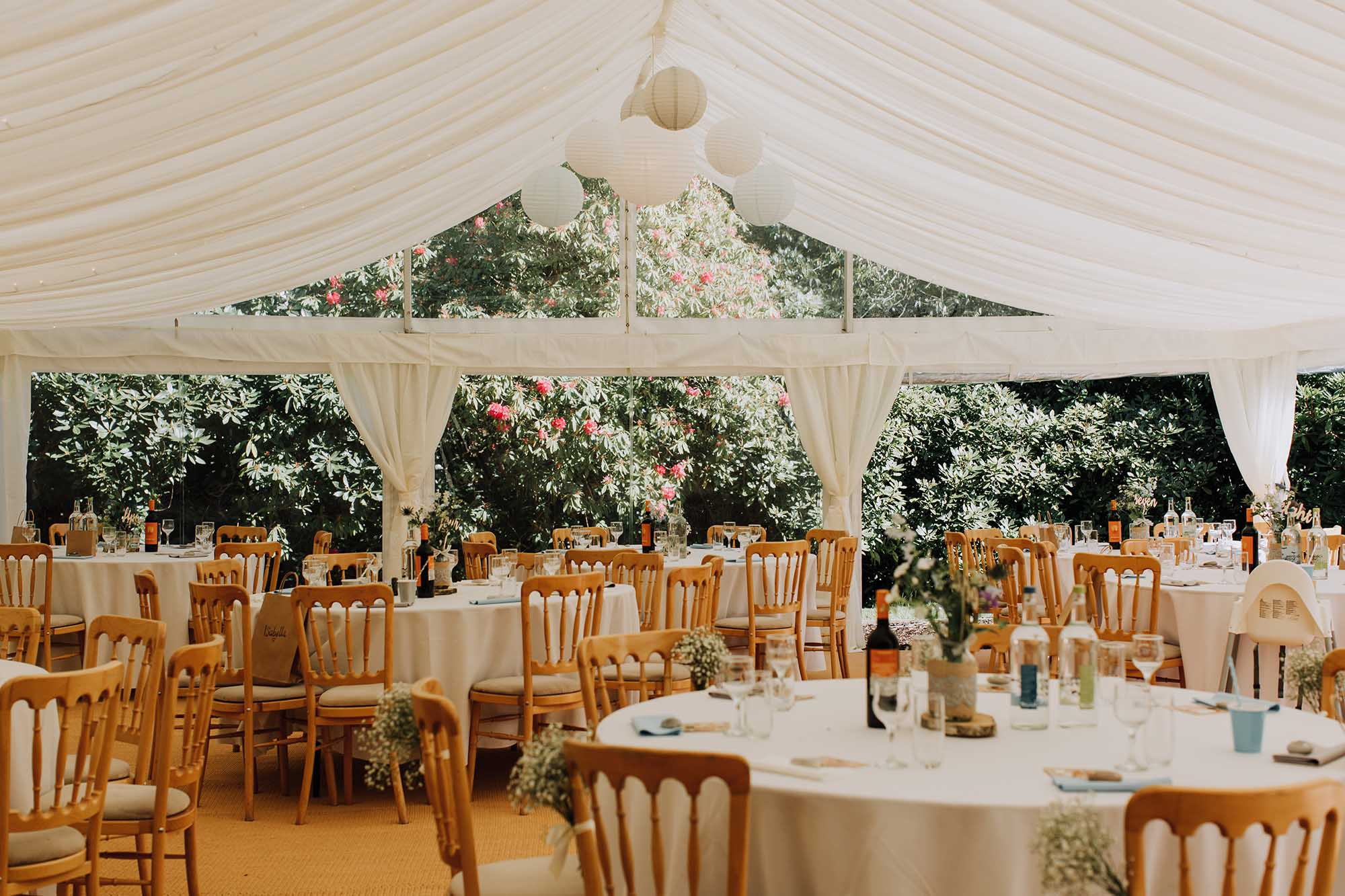 the marquee at tros yr afon anglesey