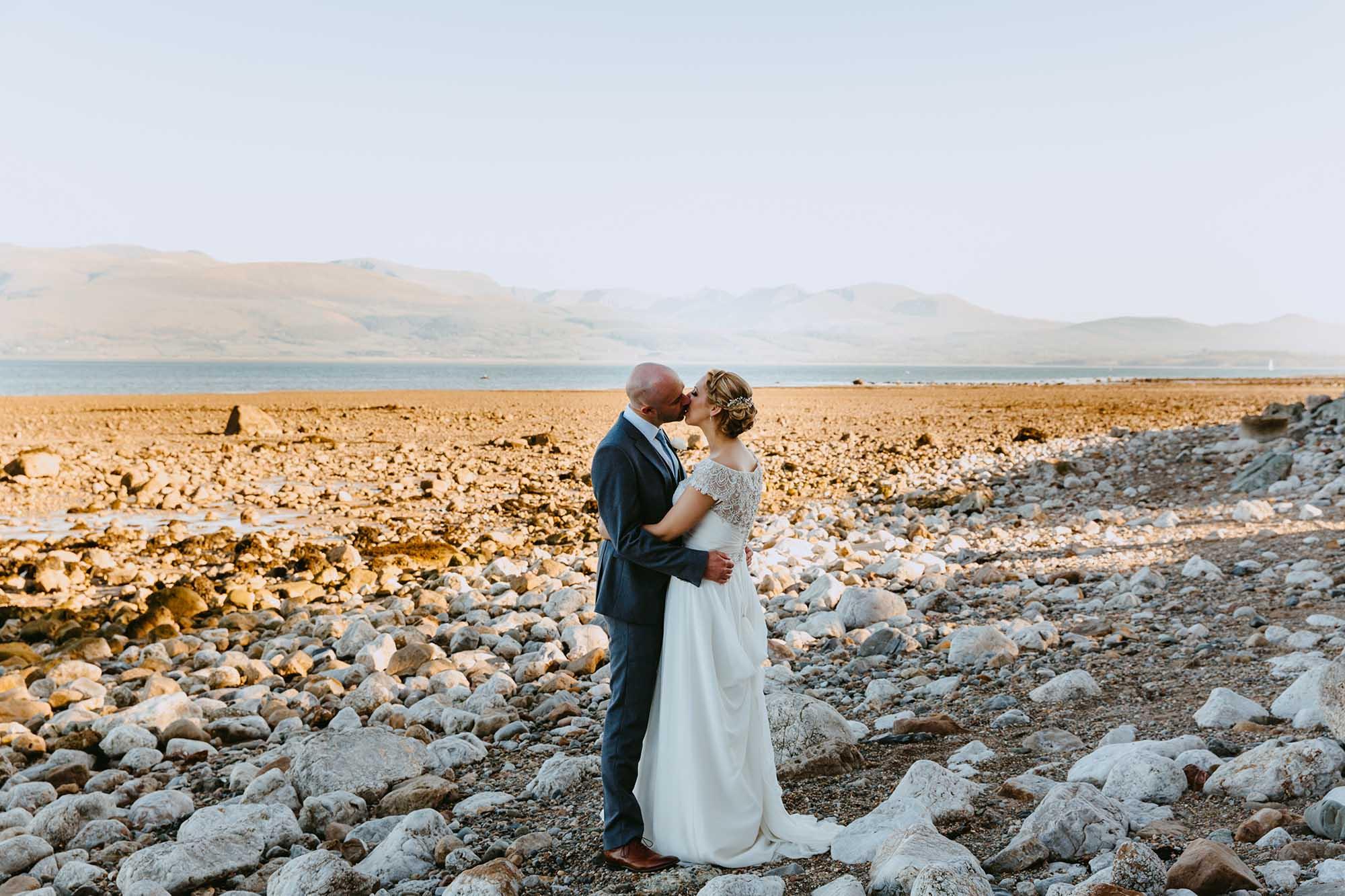Penmon beach wedding photographs