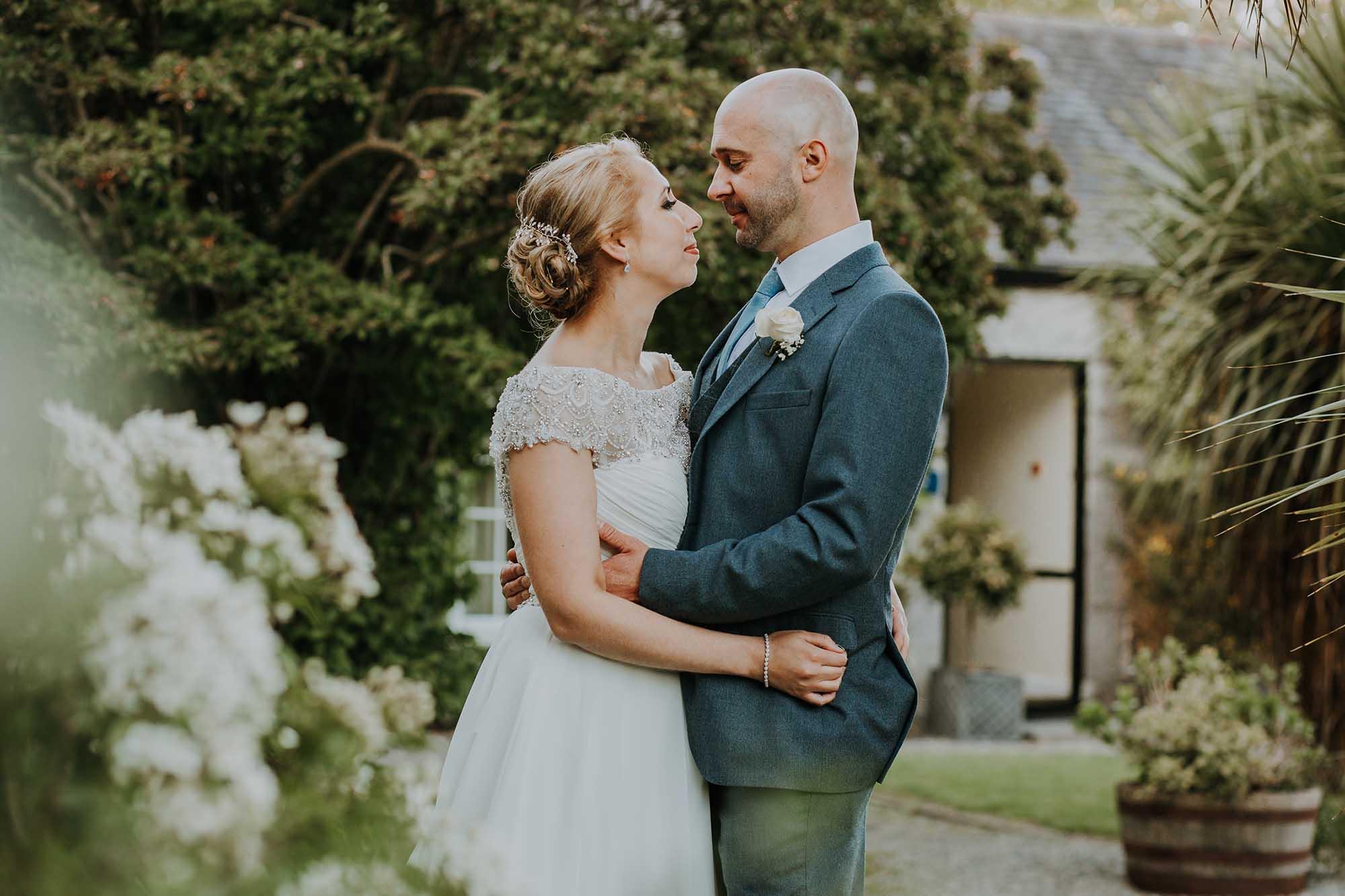 Romantic wedding photographer Wales