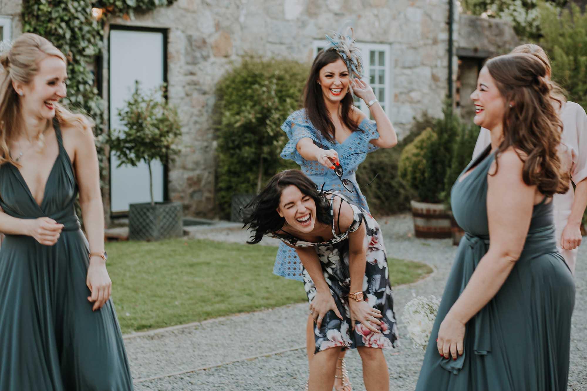 fun and natural wedding photographer Anglesey