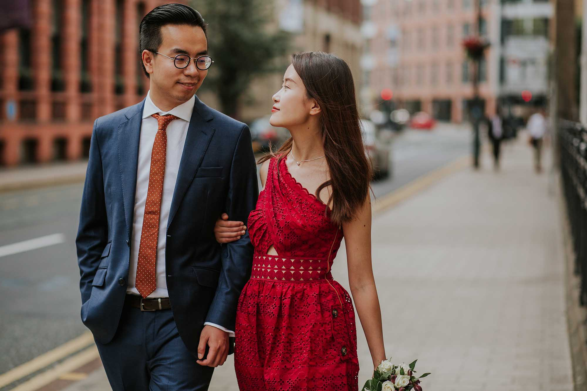 Leeds city engagement photos