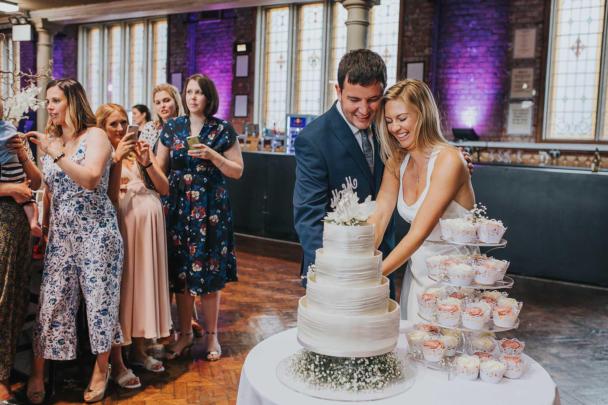 fun wedding photographer in Manchester