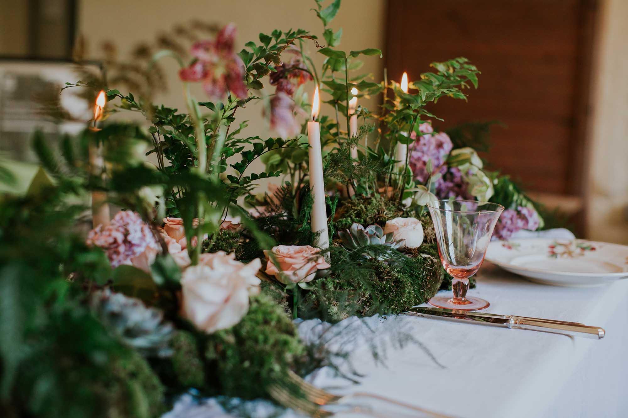 woodland wedding in Yorkshire